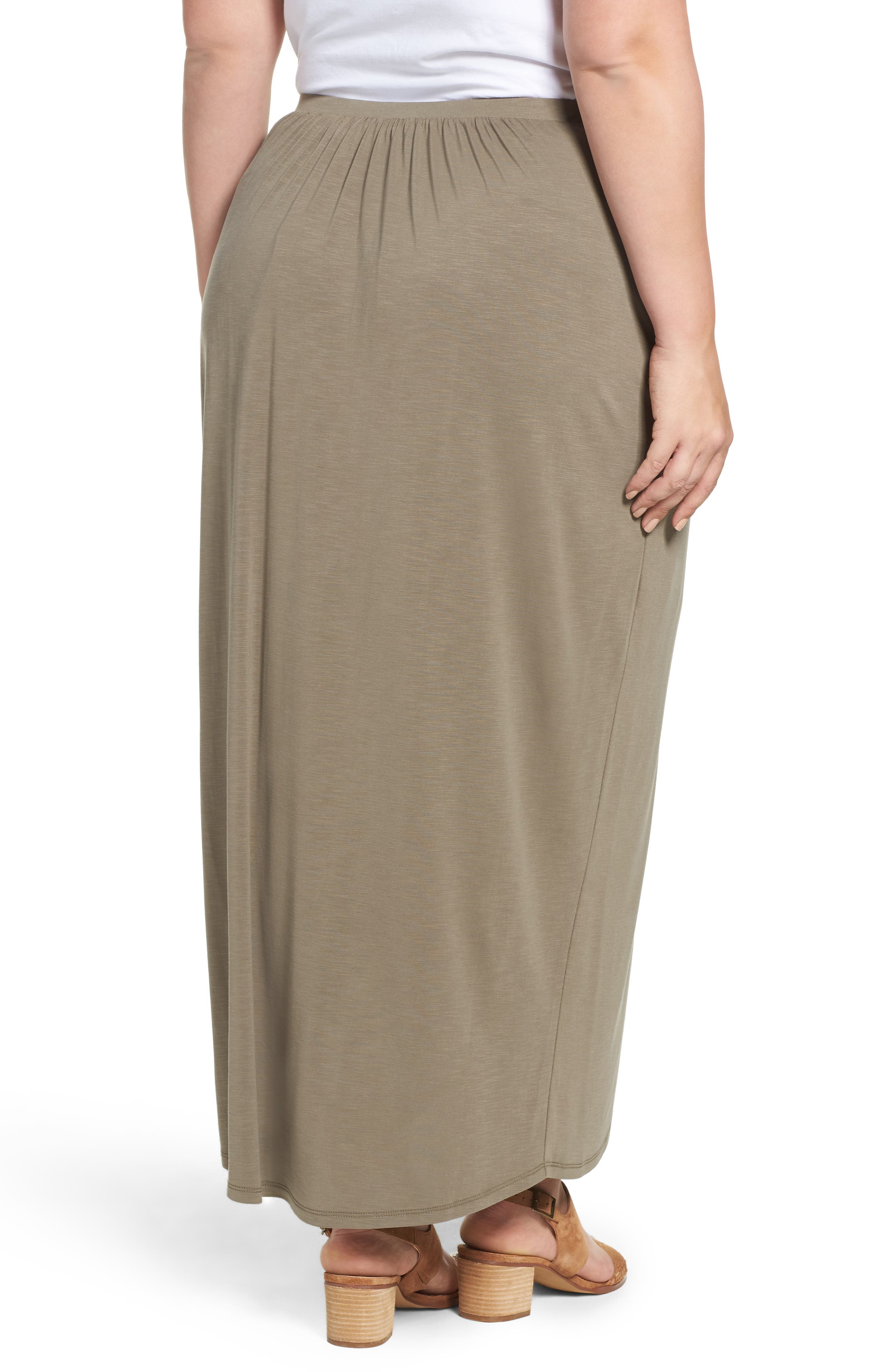 Alternate Image 2  - NIC+ZOE Boardwalk Knit Wrap Maxi Skirt (Plus Size)