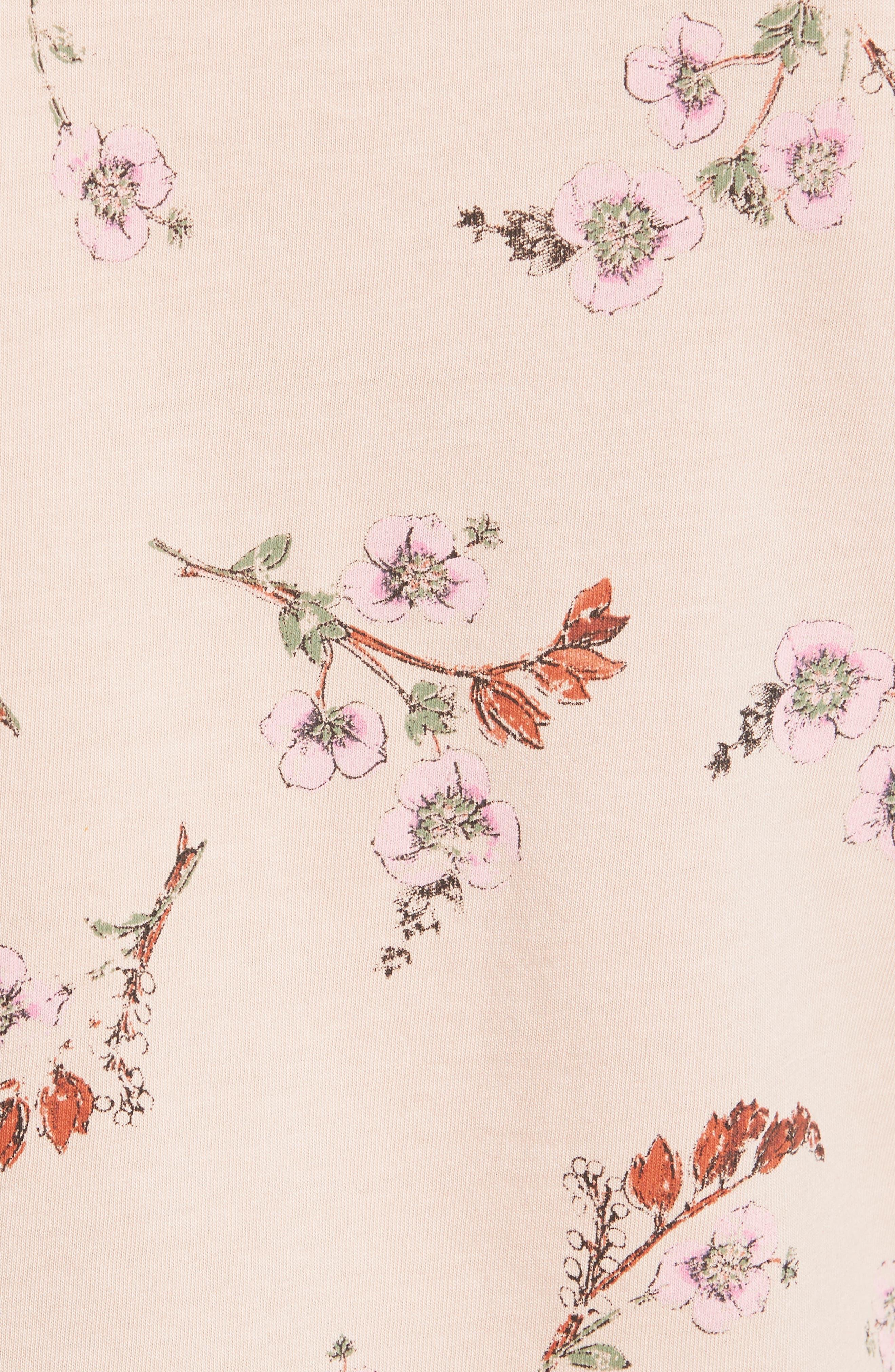 Natalie Fleur Cotton Jersey Top,                             Alternate thumbnail 5, color,                             Ballet Combo