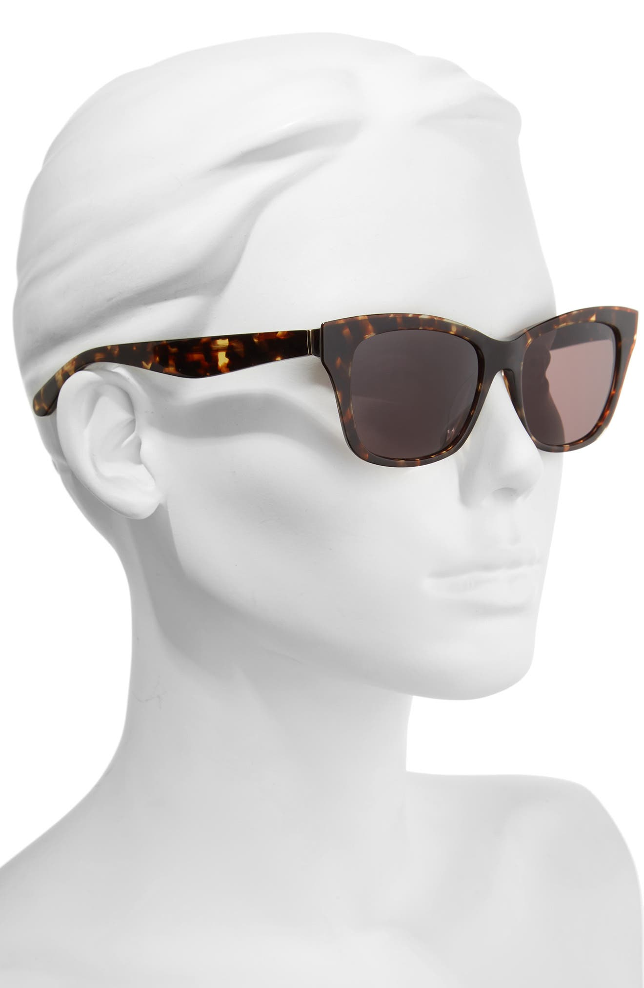 jenae 53mm sunglasses,                             Alternate thumbnail 2, color,                             Brown Havana