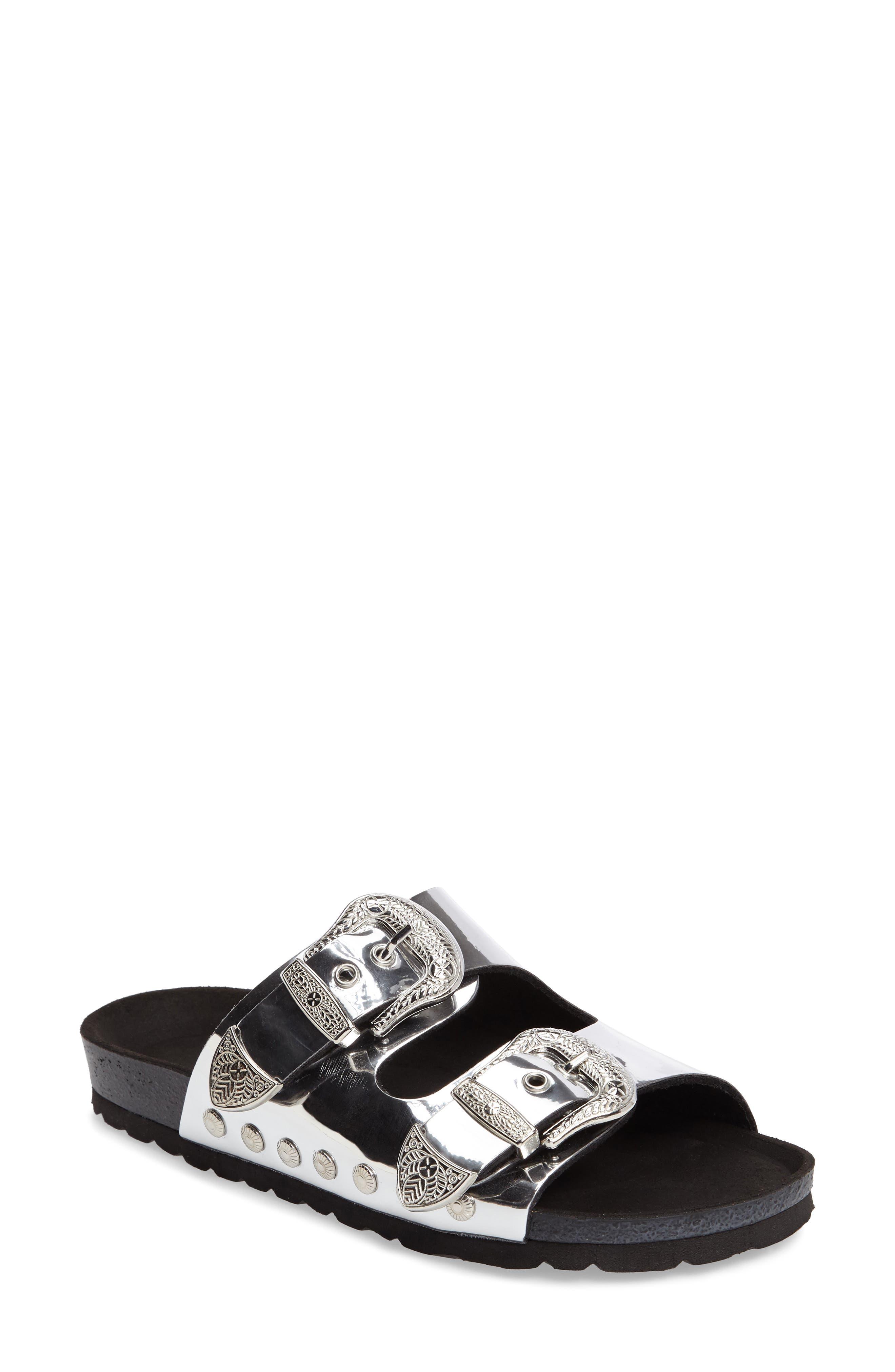 Alternate Image 1 Selected - Topshop Studded Slide Sandal (Women)