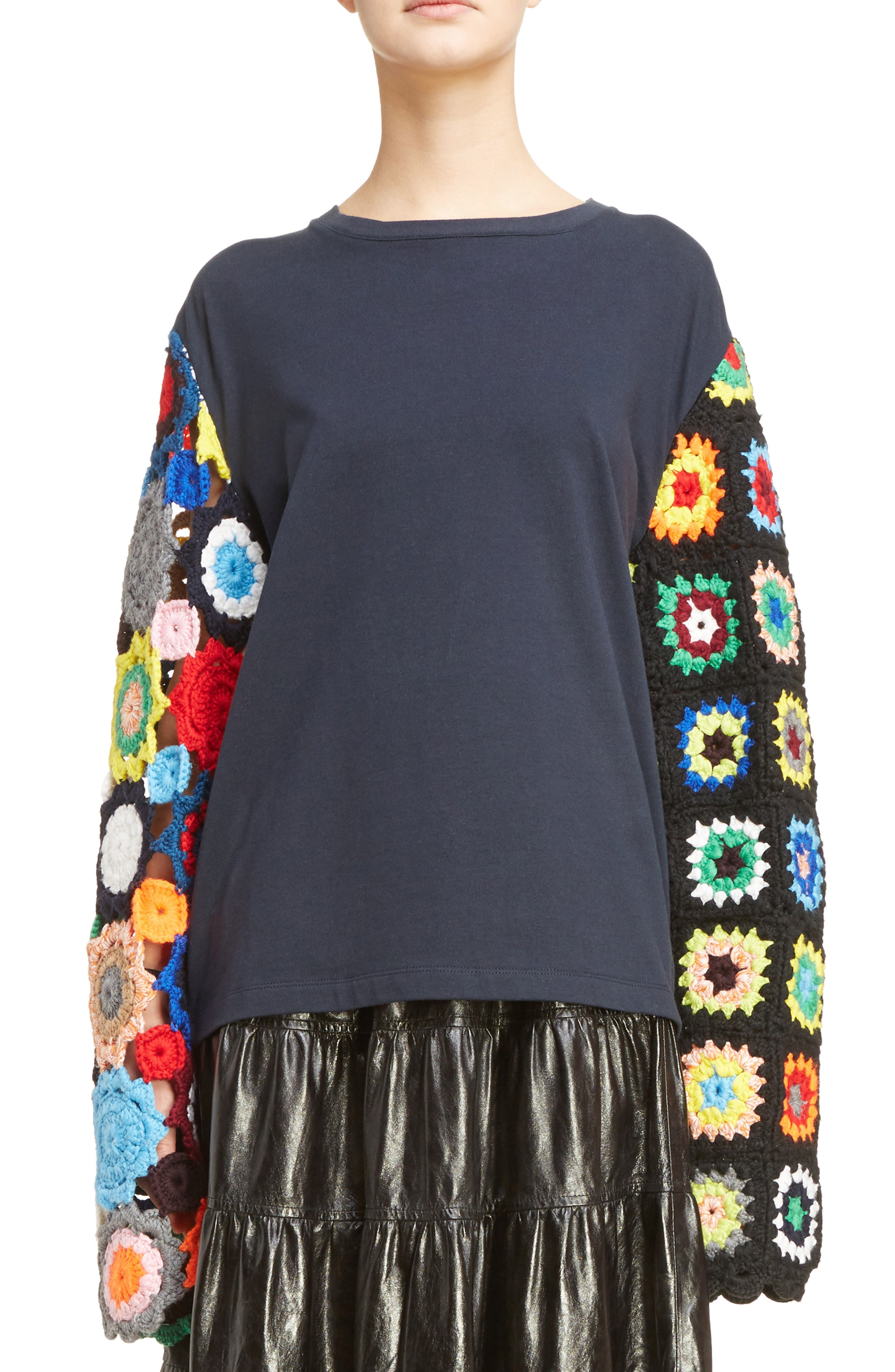 J.W.ANDERSON Crochet Sleeve Sweater