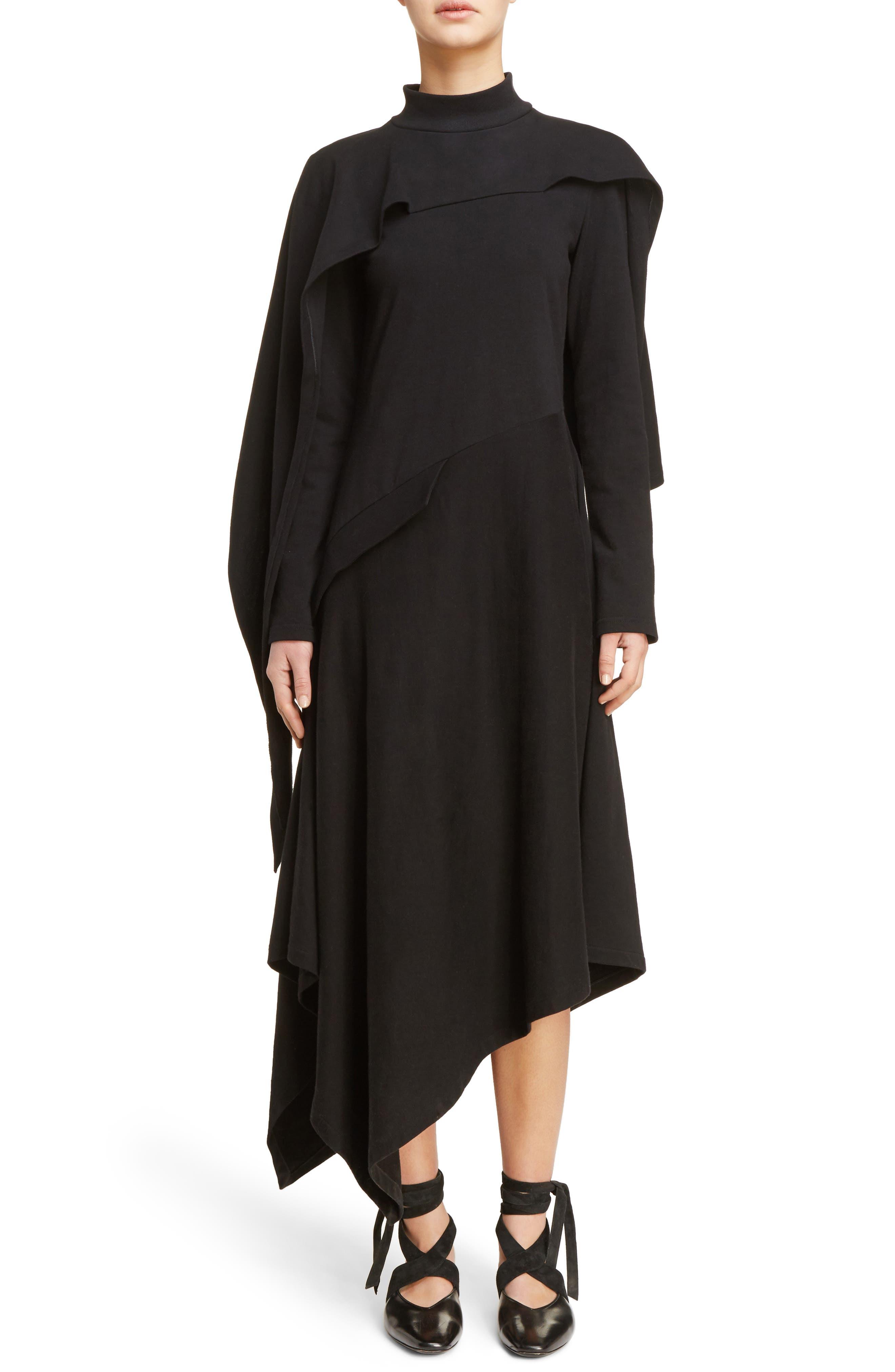 J.W.ANDERSON Side Button Asymmetrical Dress