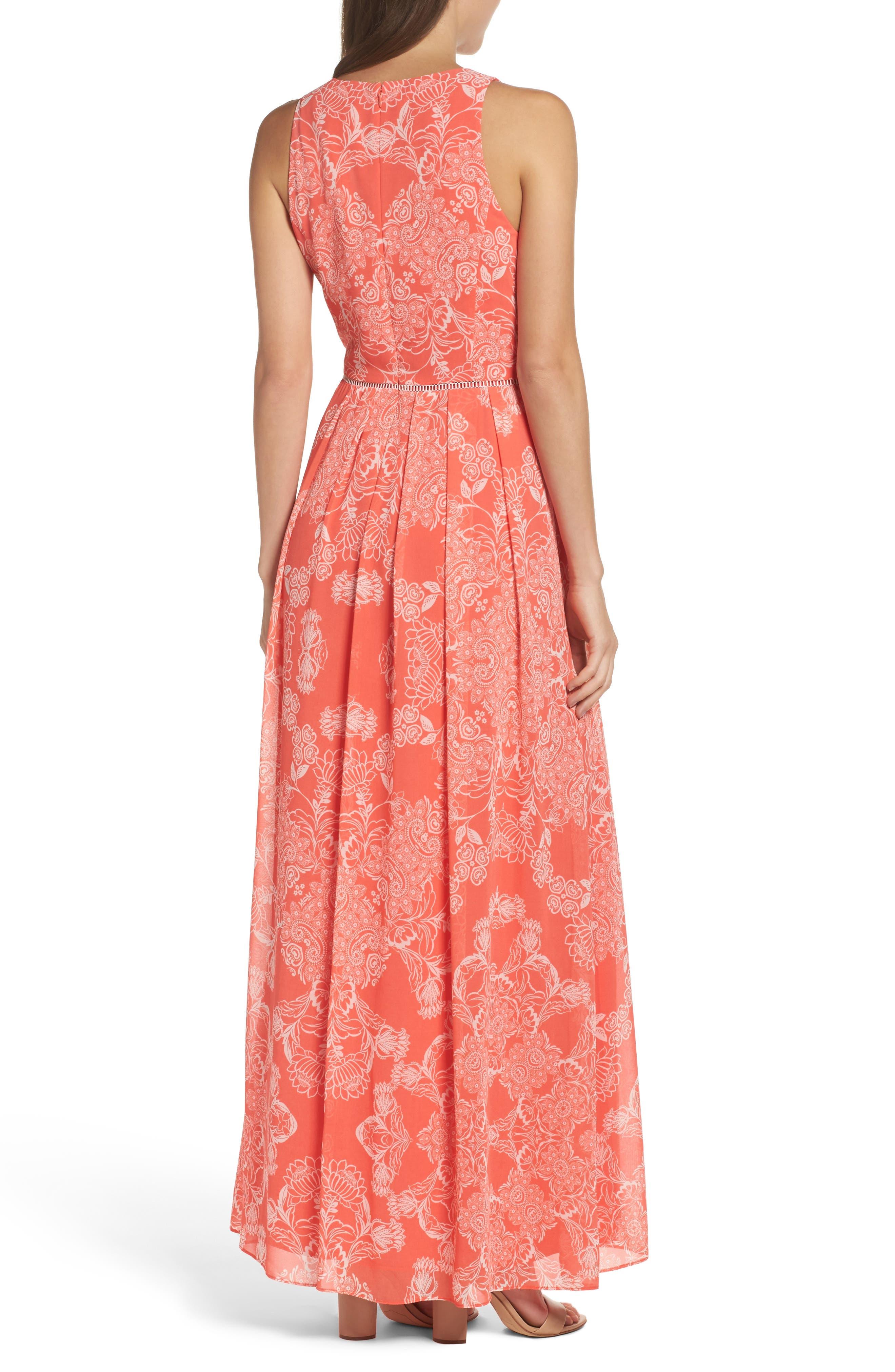 Alternate Image 2  - Vince Camuto Chiffon Maxi Dress (Regular & Petite)