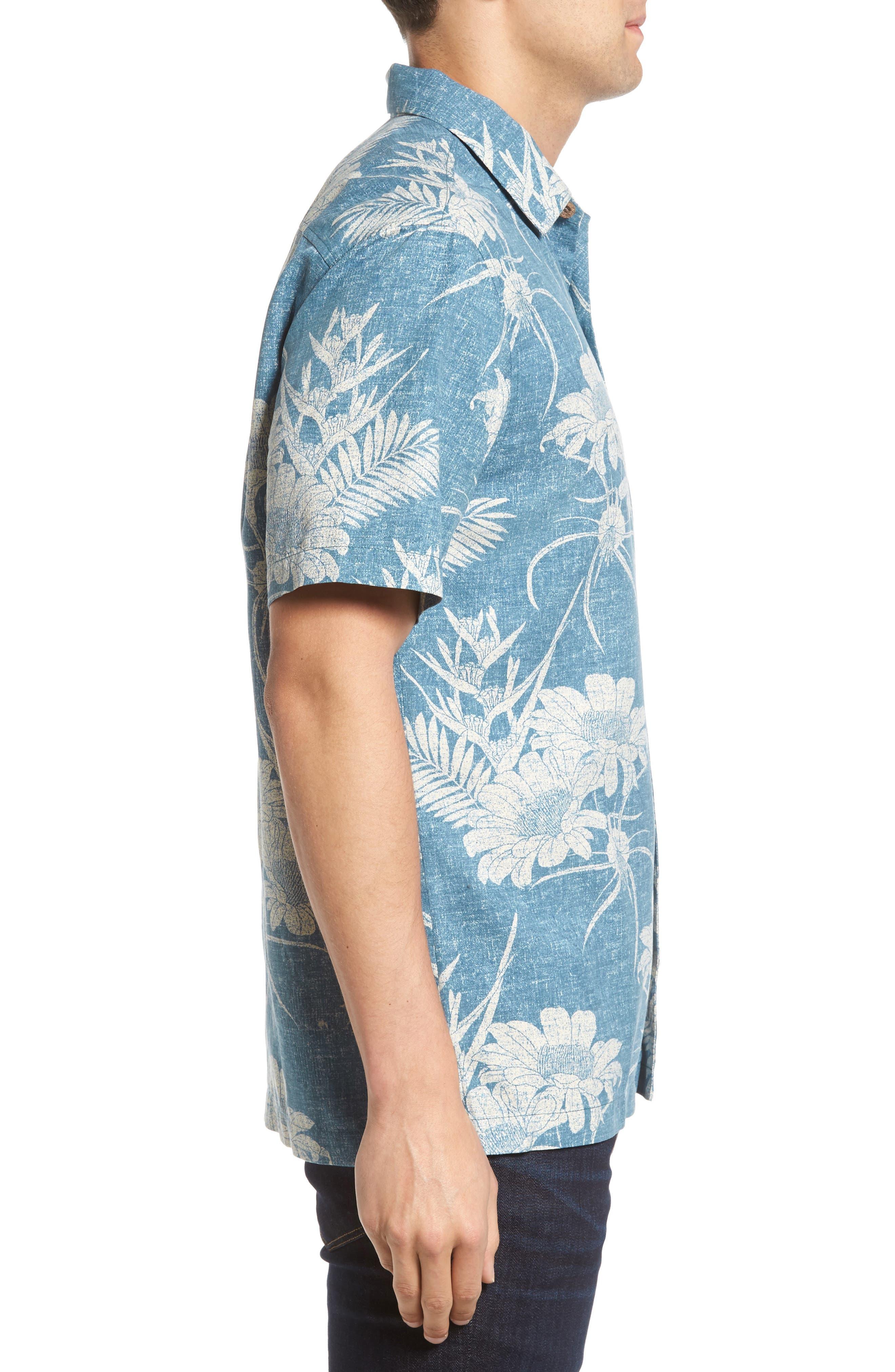 Alternate Image 3  - Tommy Bahama Sand Torini Blooms Standard Fit Silk Blend Camp Shirt