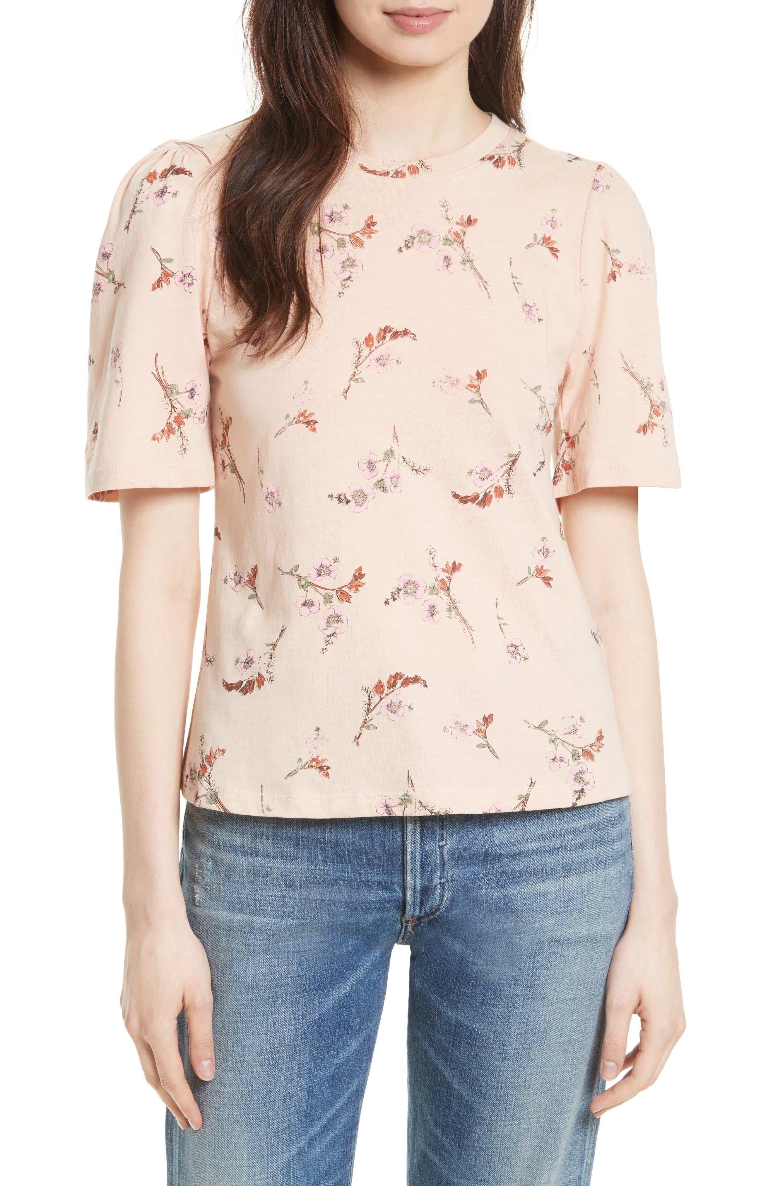 Alternate Image 1 Selected - Rebecca Taylor Natalie Fleur Cotton Jersey Top