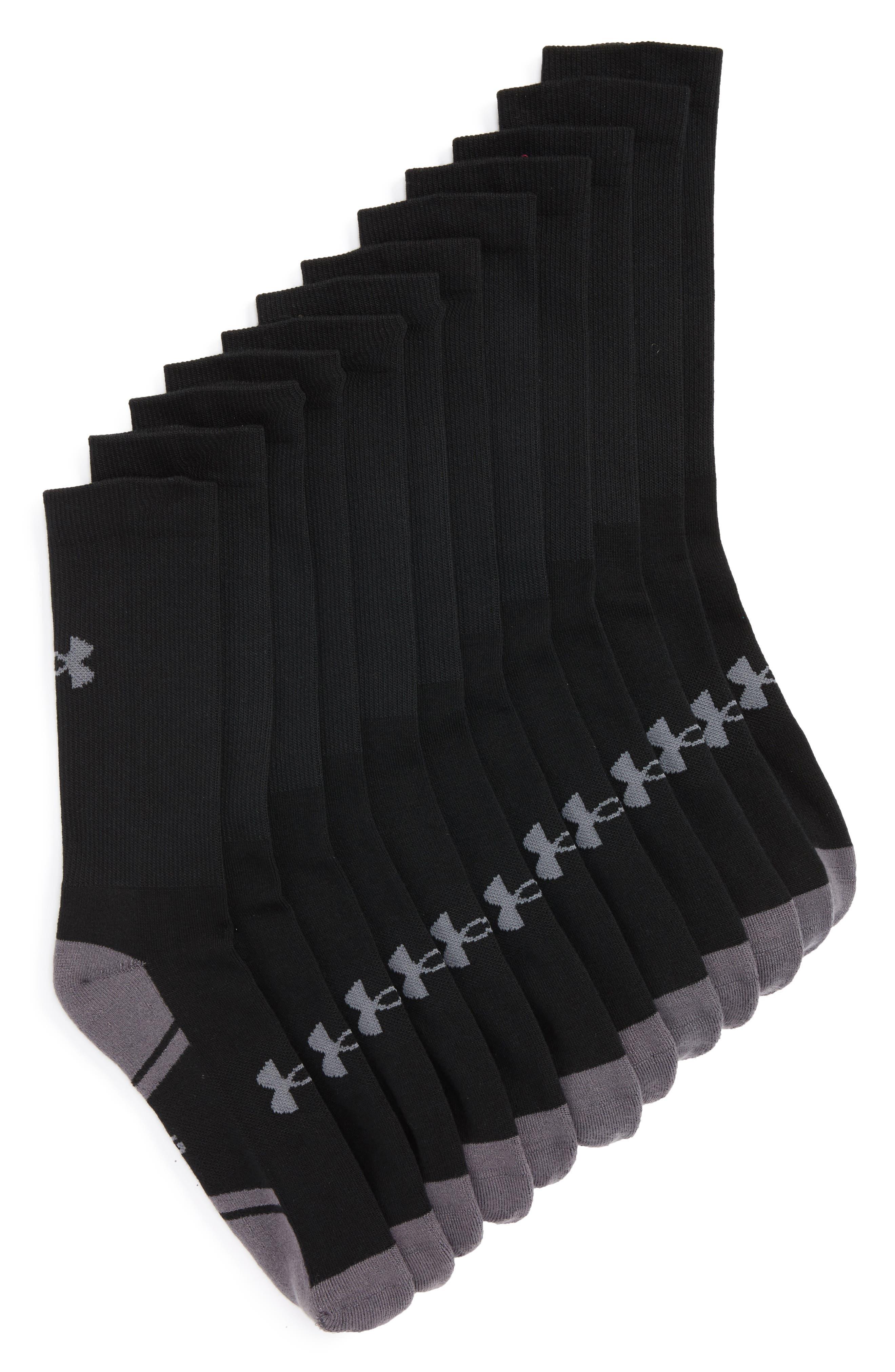 Under Armour Resistor 3.0 6-Pack Crew Socks