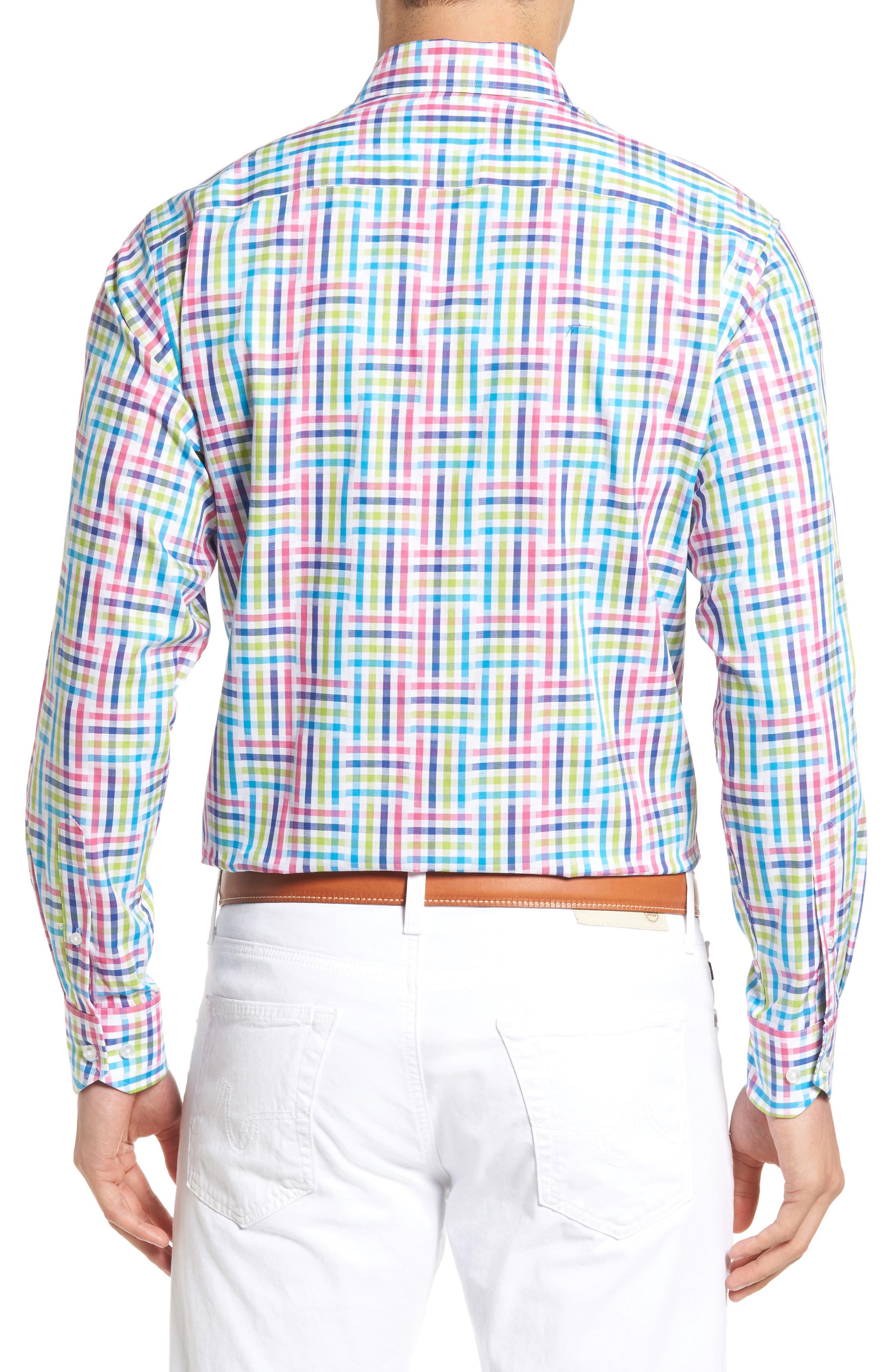 Cliffrose Regular Fit Buffalo Check Sport Shirt,                             Alternate thumbnail 2, color,                             Pink