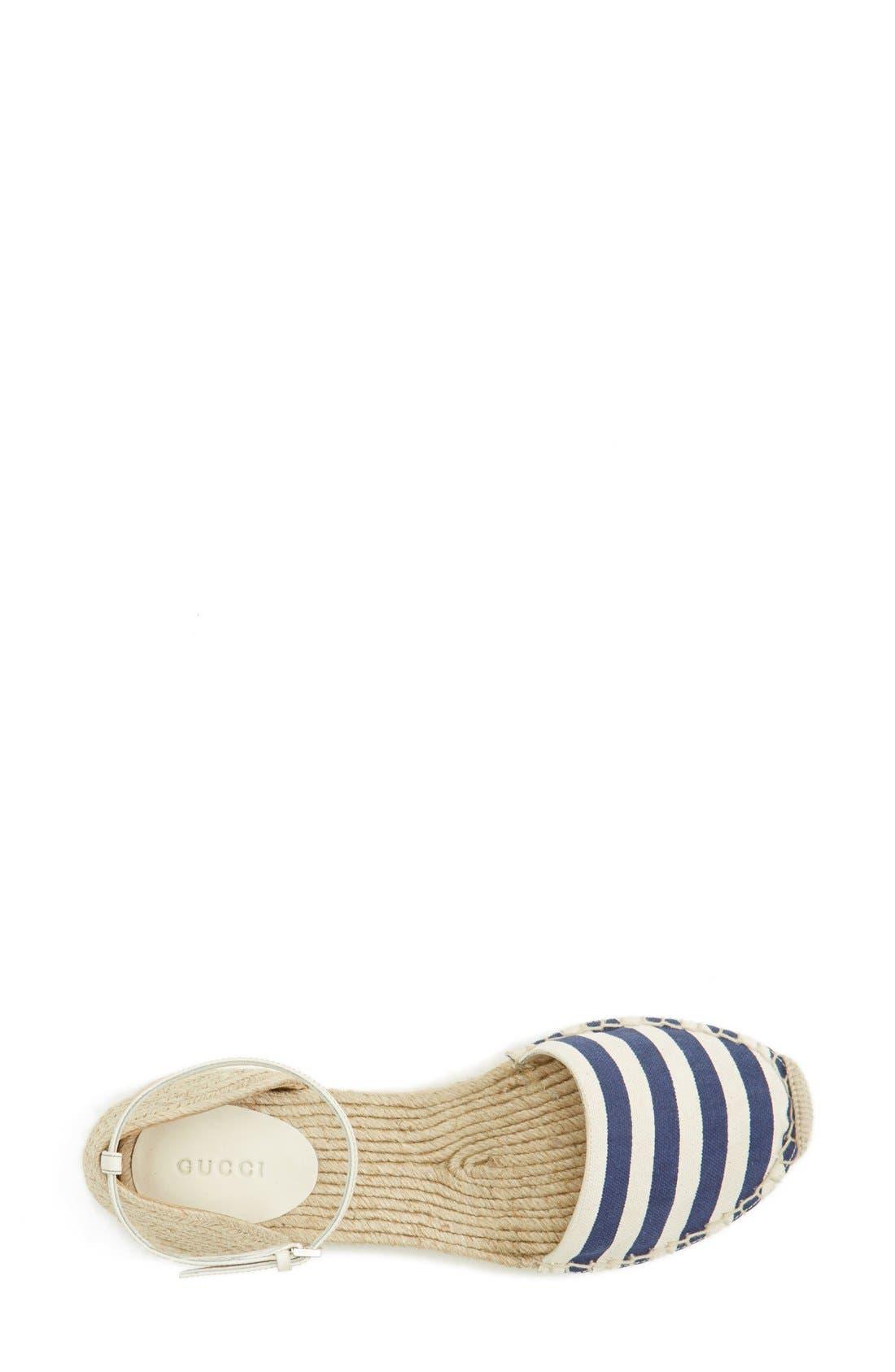 Alternate Image 3  - Gucci 'Veronique' Ankle Strap d'Orsay Espadrille Flat (Women)