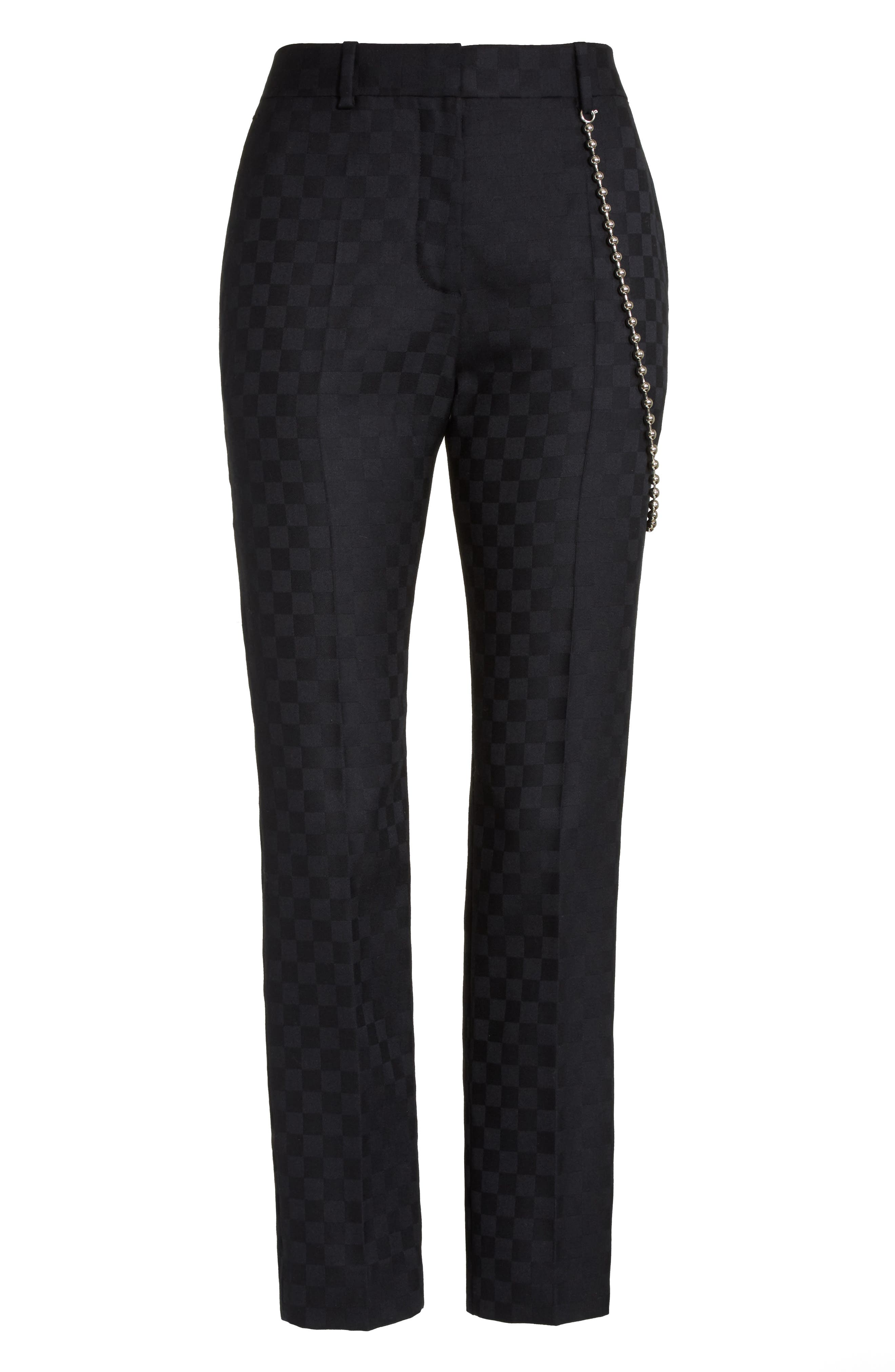 Alternate Image 4  - Alexander Wang Chain Trim Checkerboard Pants