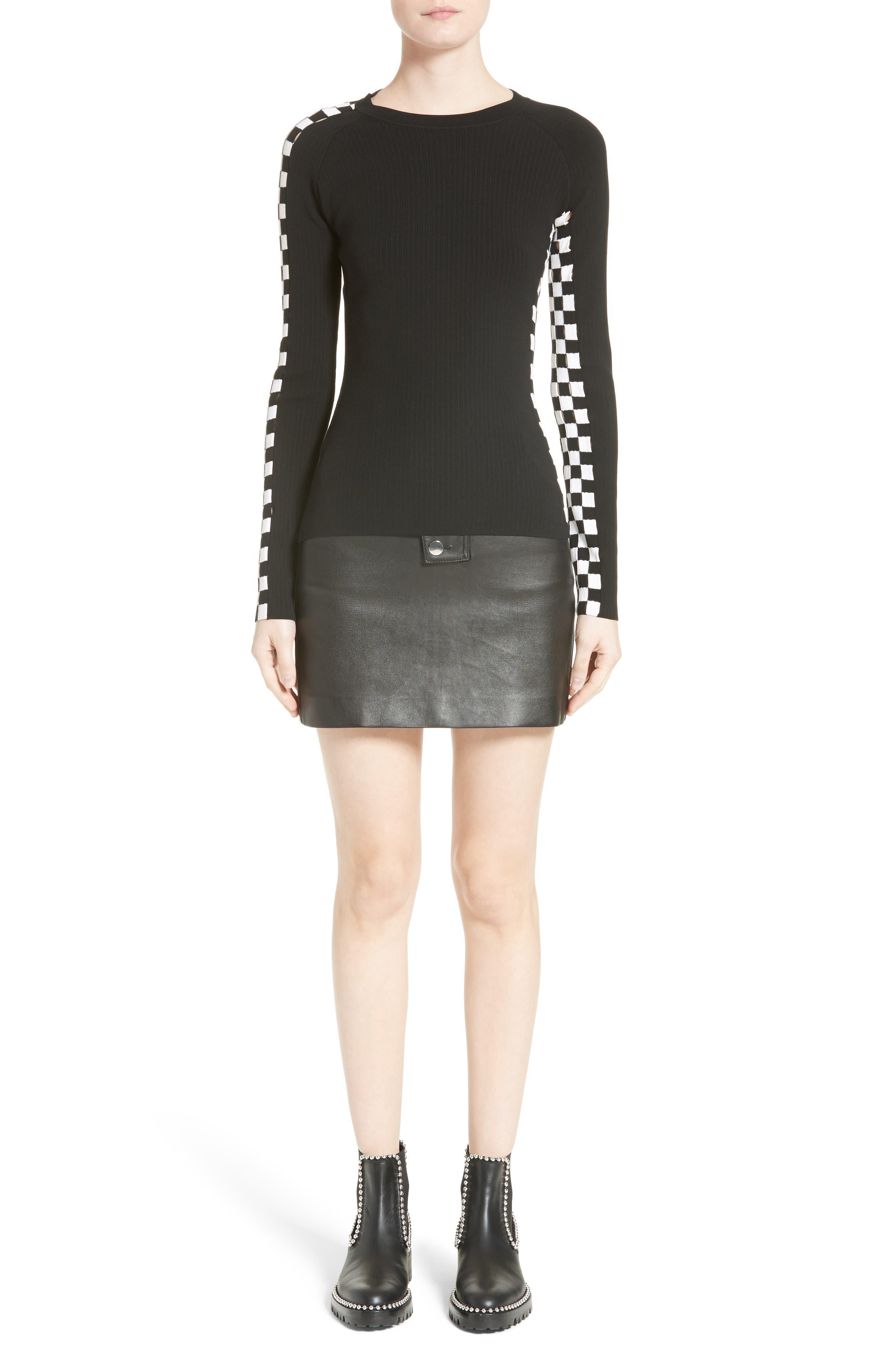 Alternate Image 7  - Alexander Wang Snap Leather Miniskirt