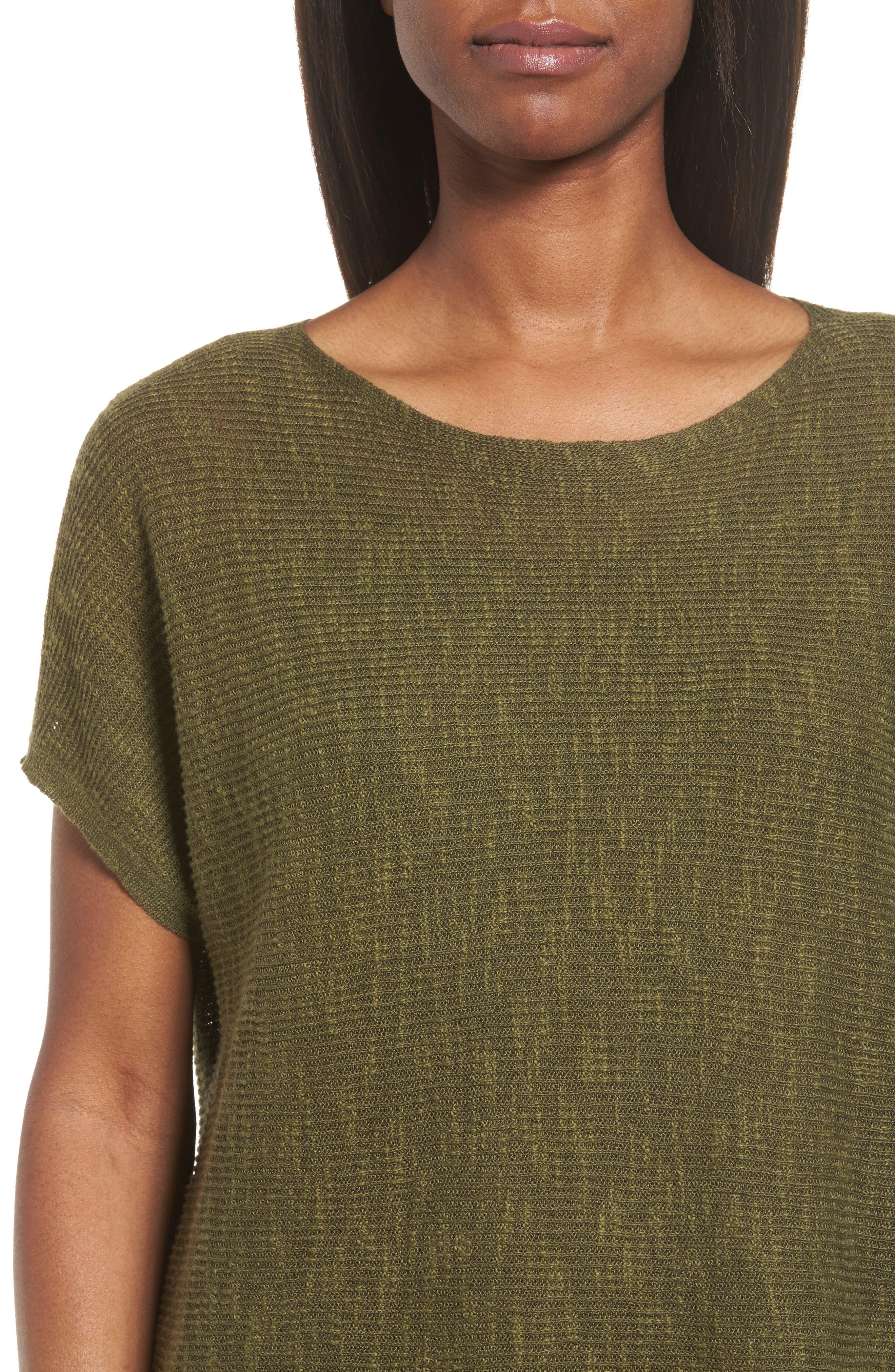 Alternate Image 4  - Eileen Fisher Organic Linen & Cotton Knit Top (Regular & Petite)