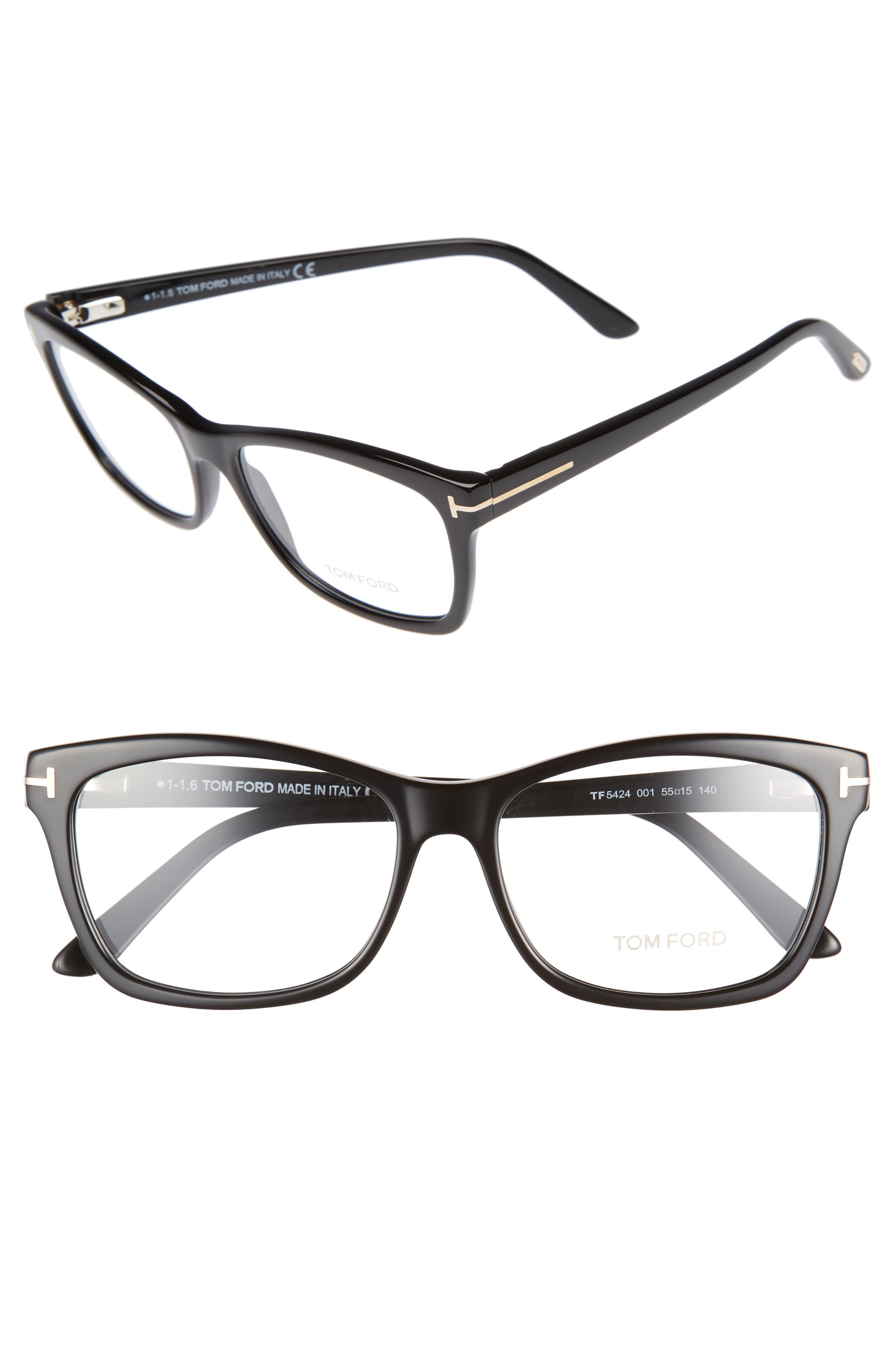 949f47cc744 Tom Ford 55Mm Optical Frames - Shiny Black