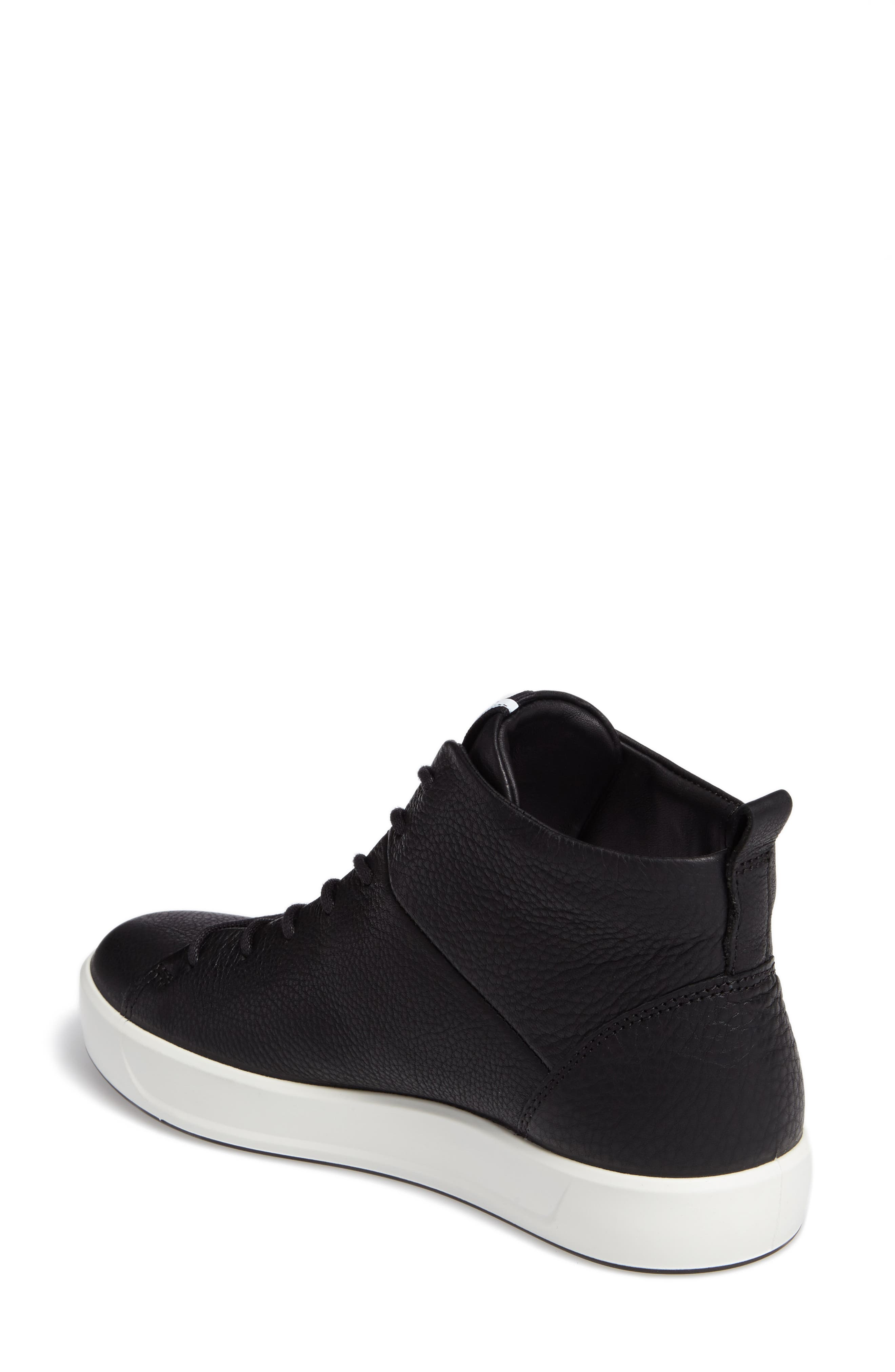 Soft 8 High Top Sneaker,                             Alternate thumbnail 2, color,                             Black Leather