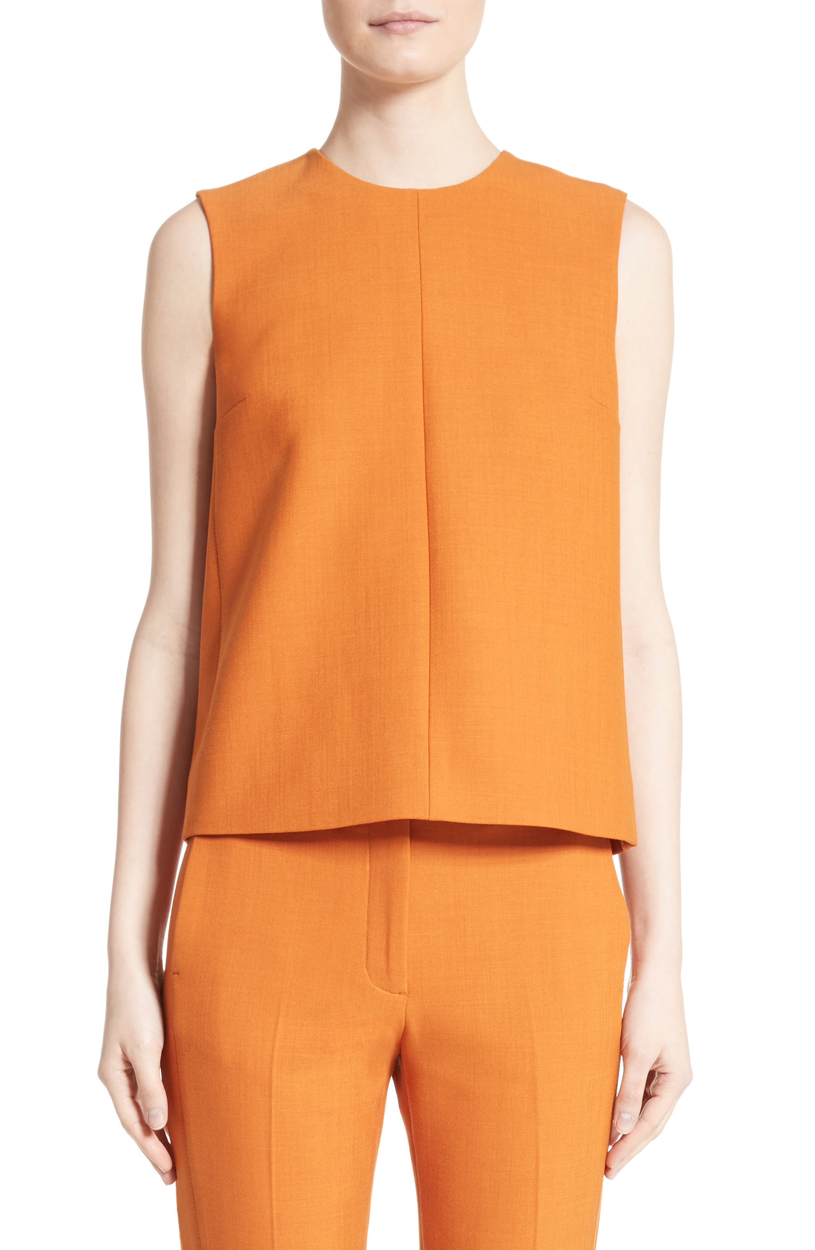 Sleeveless Top,                         Main,                         color, Maple
