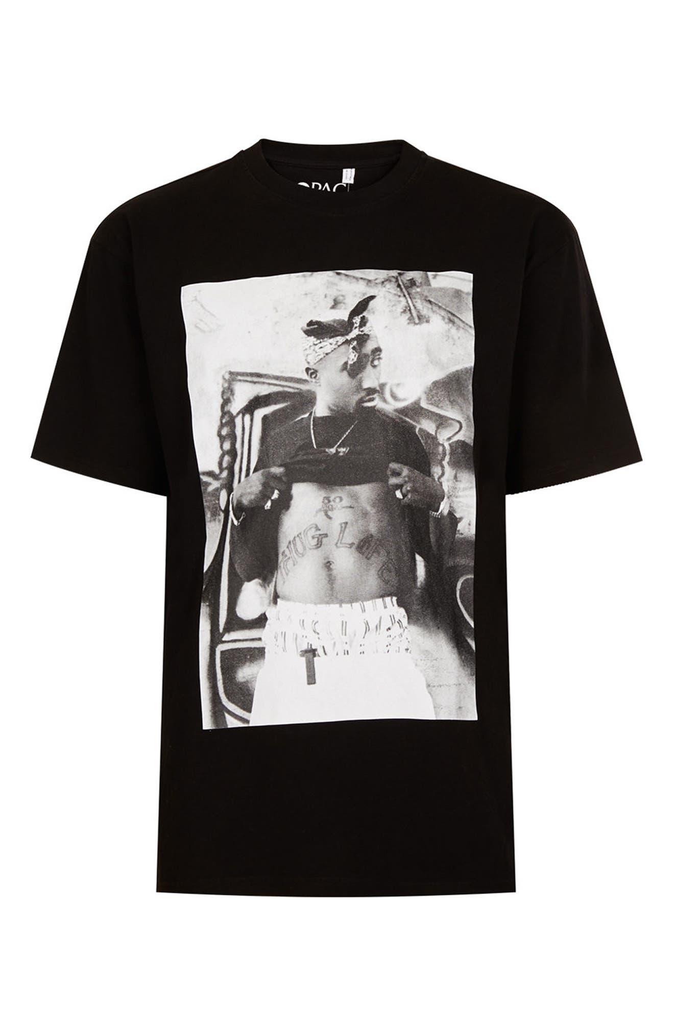 Alternate Image 5  - Topman Tupac Graphic Oversize T-Shirt