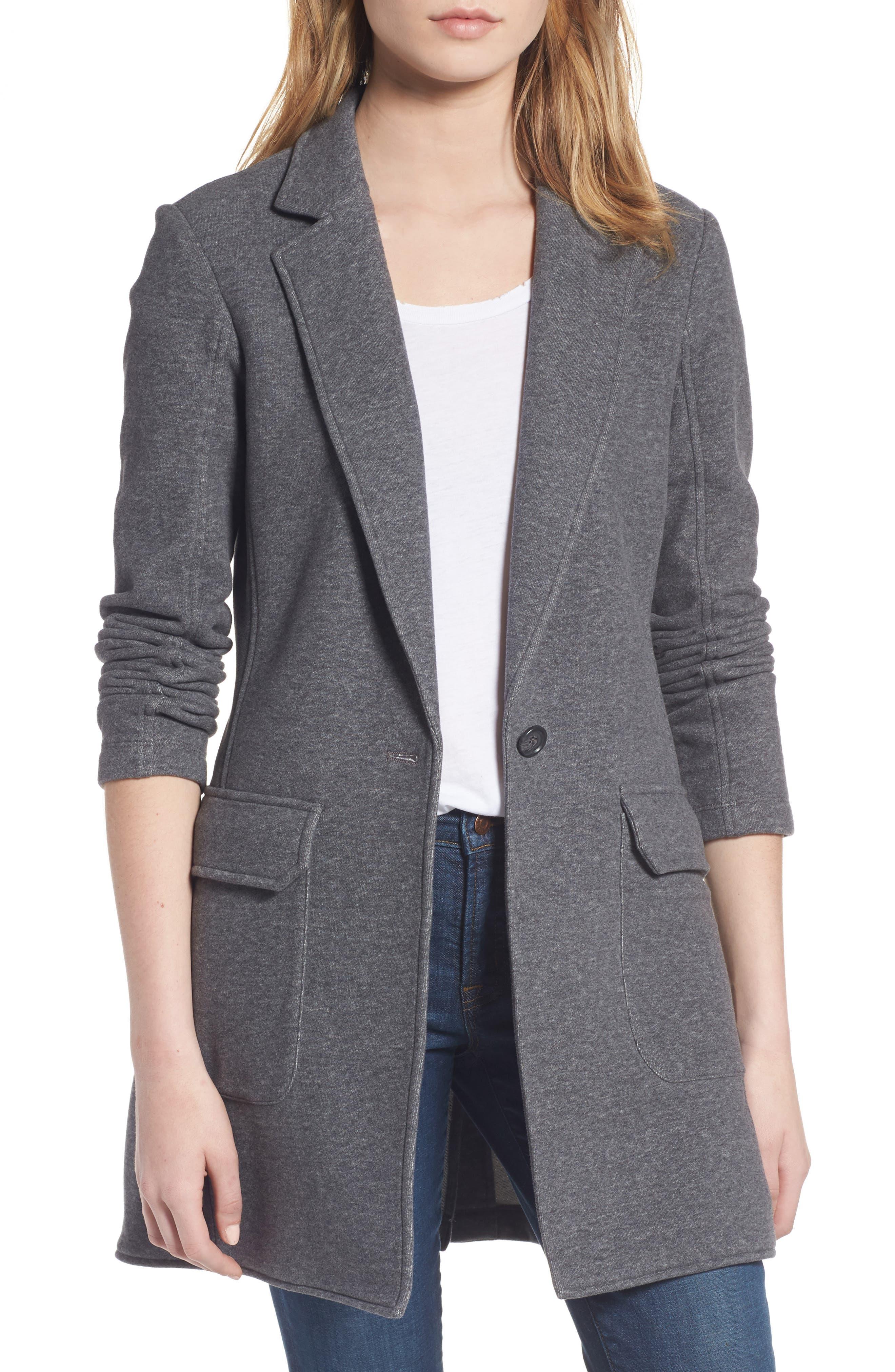 James Perse Brushed Fleece Long Jacket