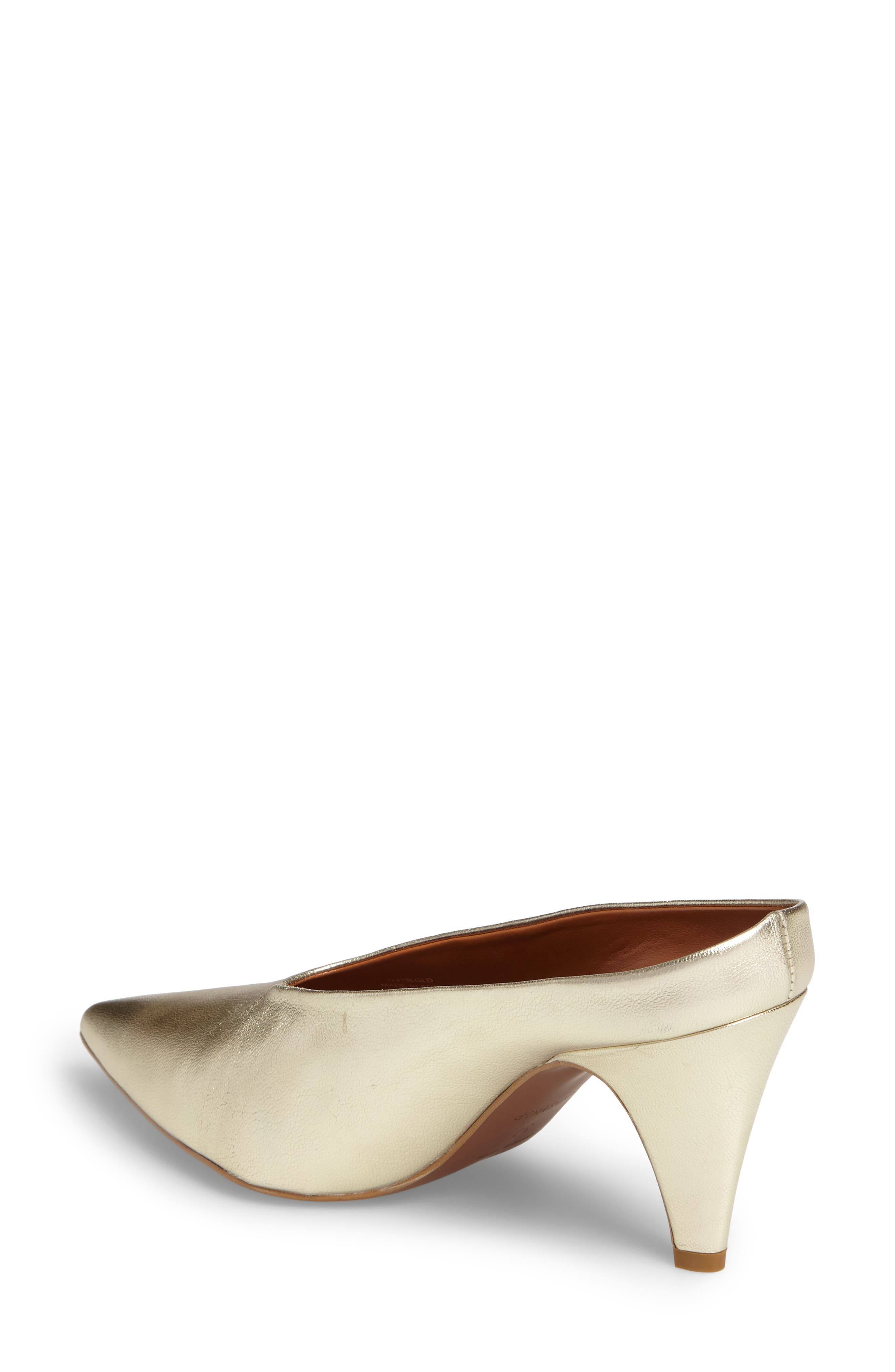 Juicy Pointy Toe Pump,                             Alternate thumbnail 2, color,                             Gold Leather