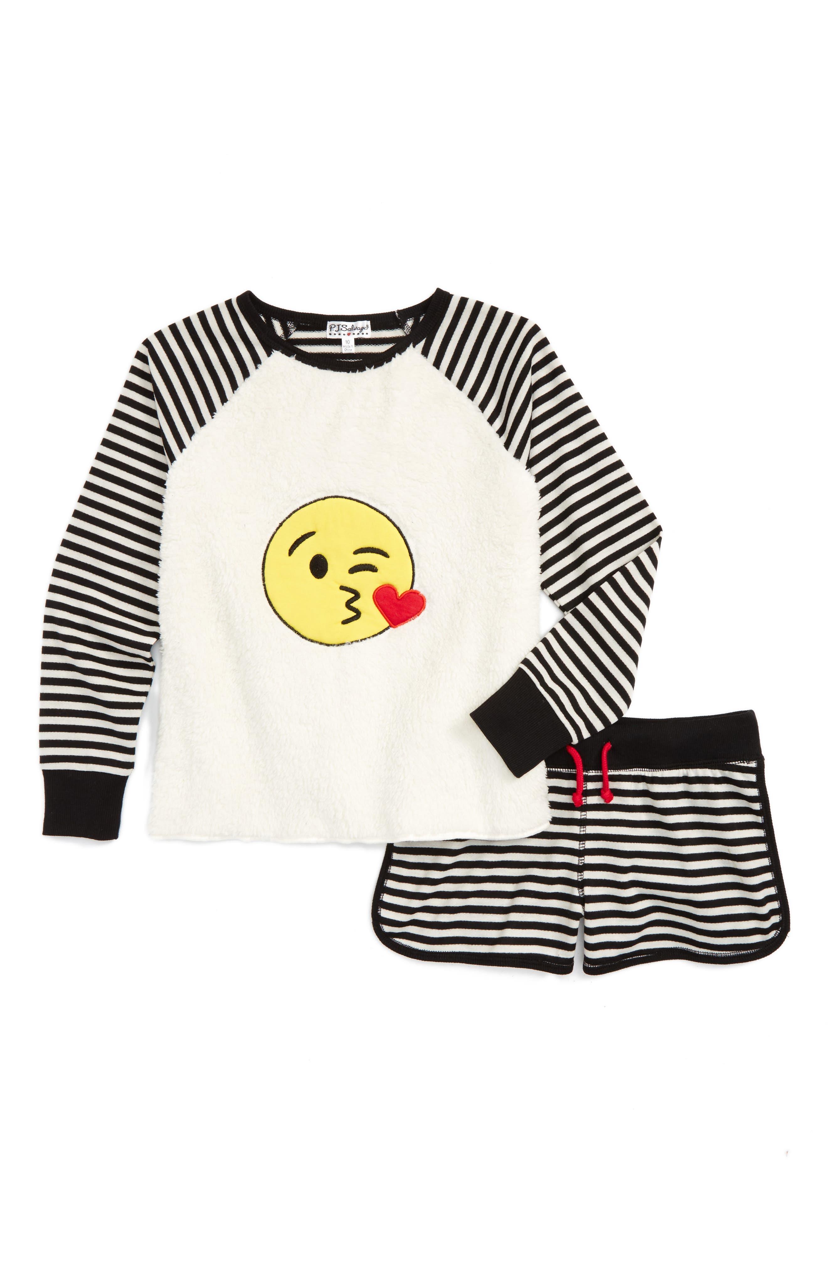 PJ Salvage Patches Two-Piece Pajamas (Big Girls)