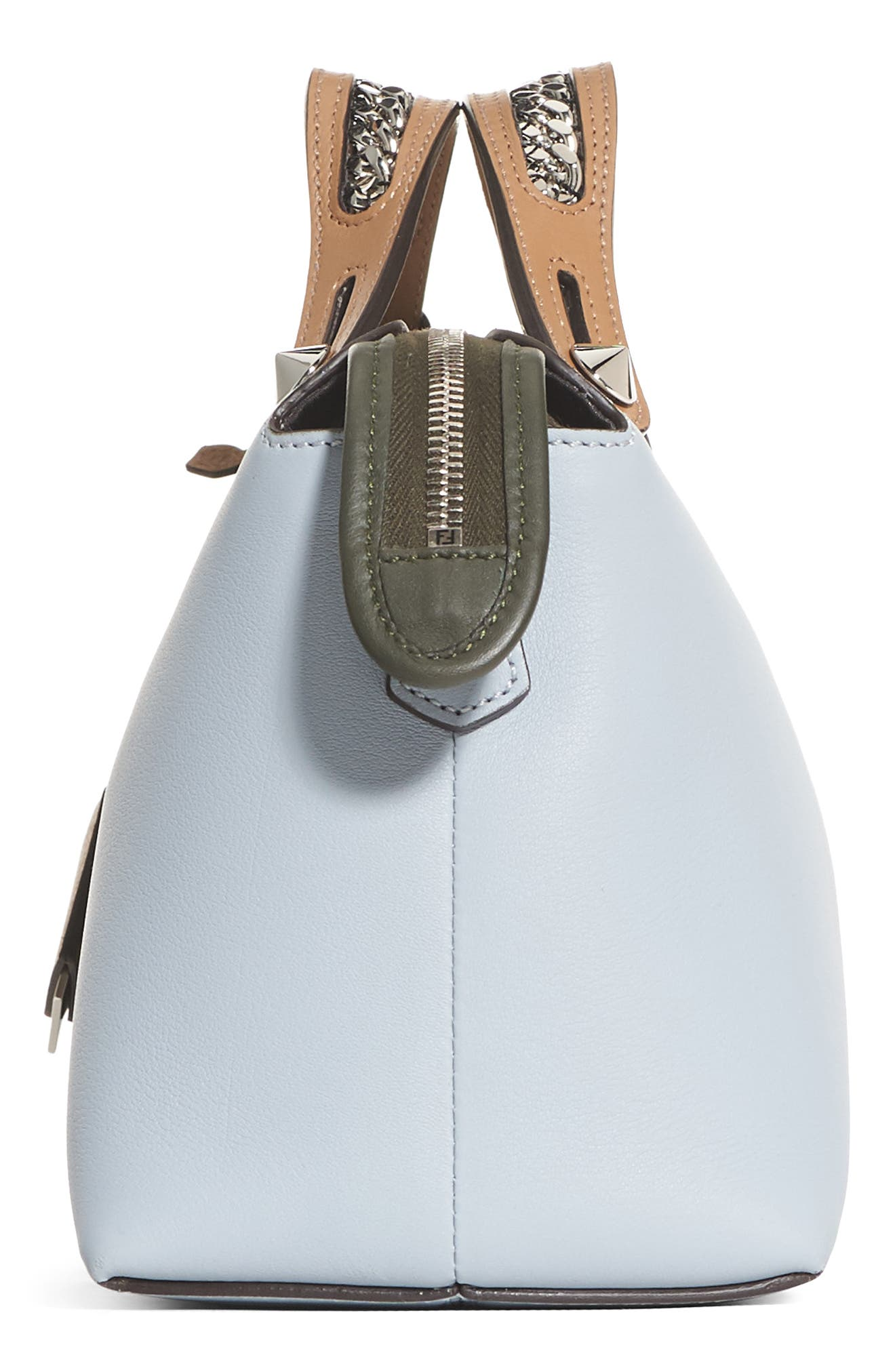Small By the Way Leather Shoulder Bag,                             Alternate thumbnail 4, color,                             Blue Powder