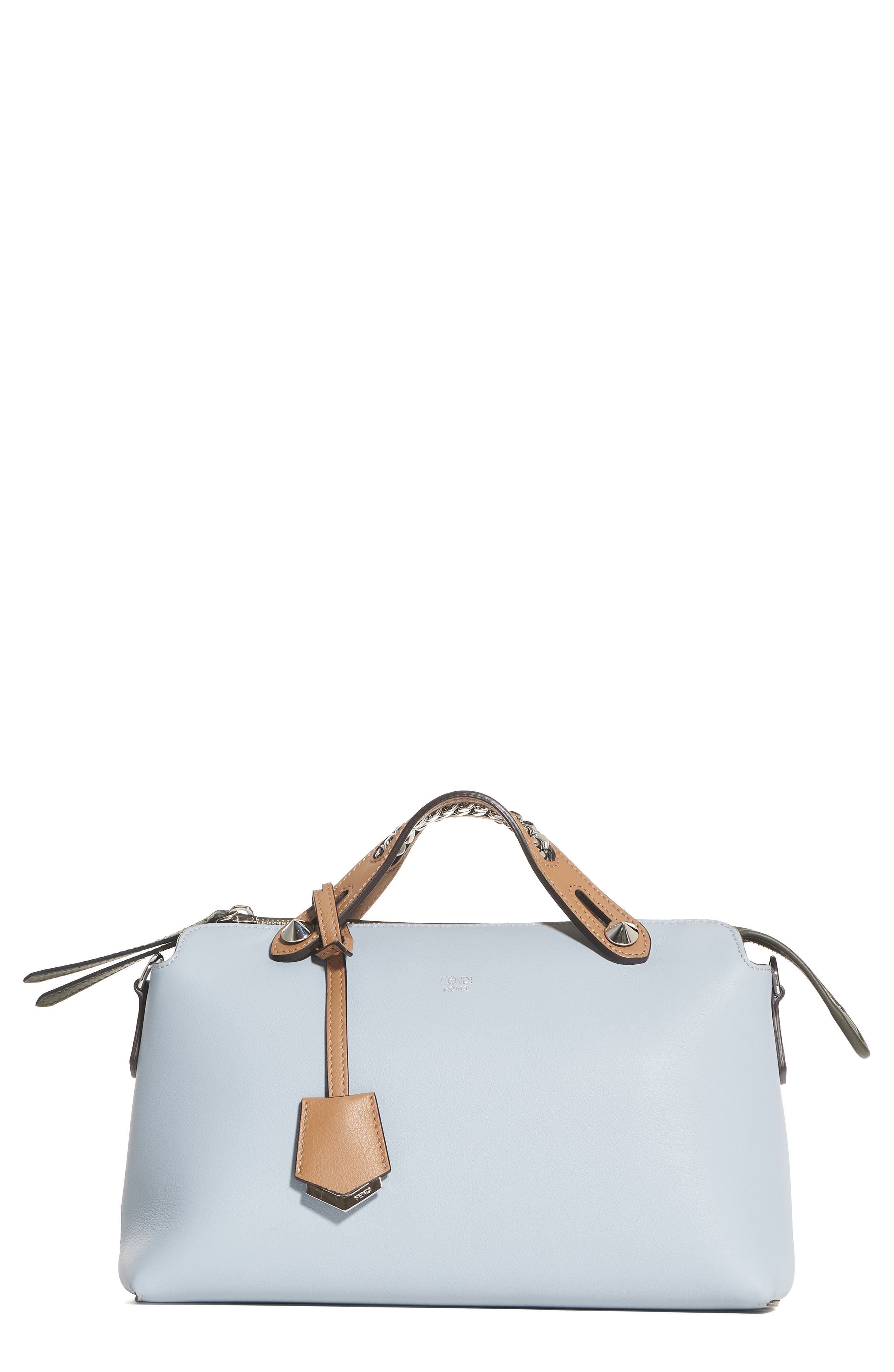 Small By the Way Leather Shoulder Bag,                         Main,                         color, Blue Powder