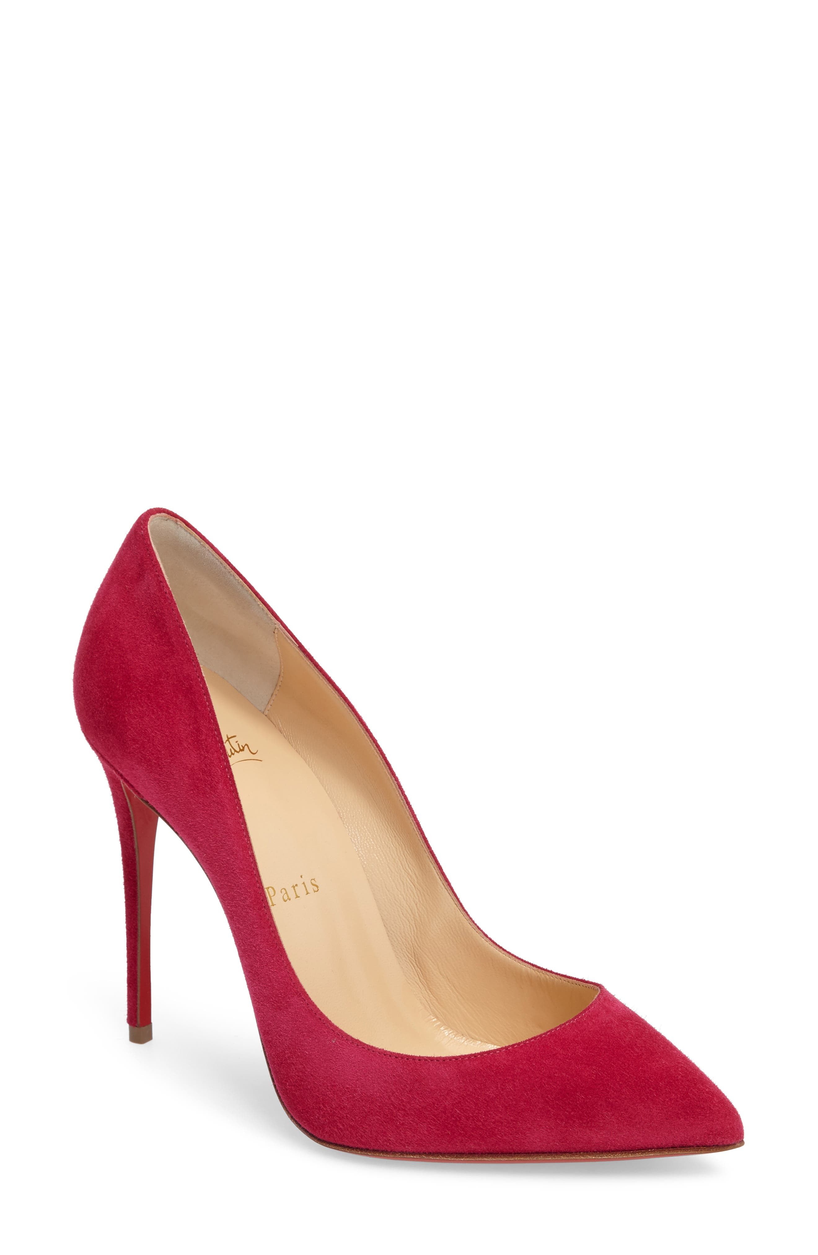 Pigalle Follies Pointy Toe Pump,                             Main thumbnail 1, color,                             Rosa Suede