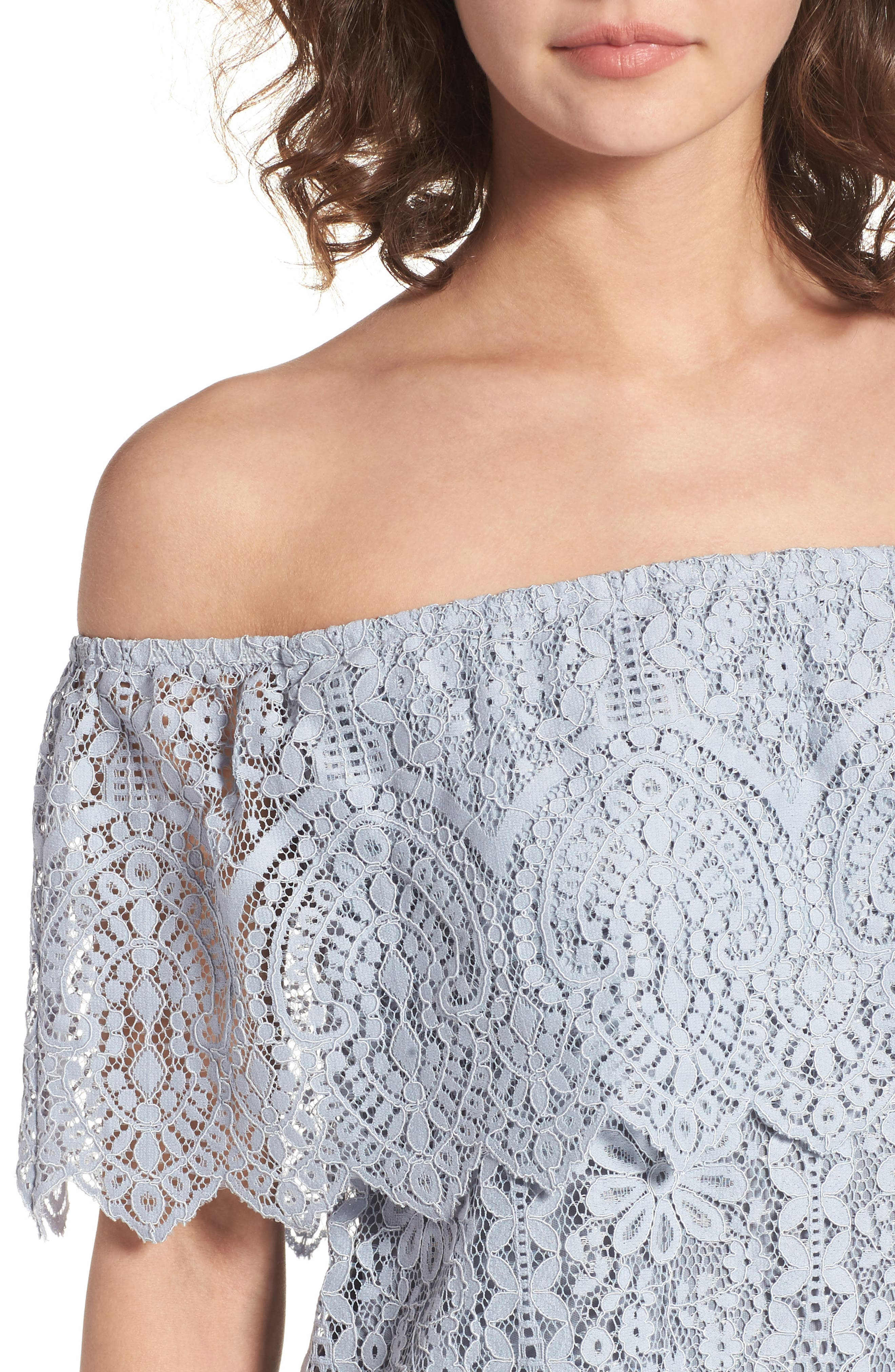 Alternate Image 4  - BP. Lace Off the Shoulder Top