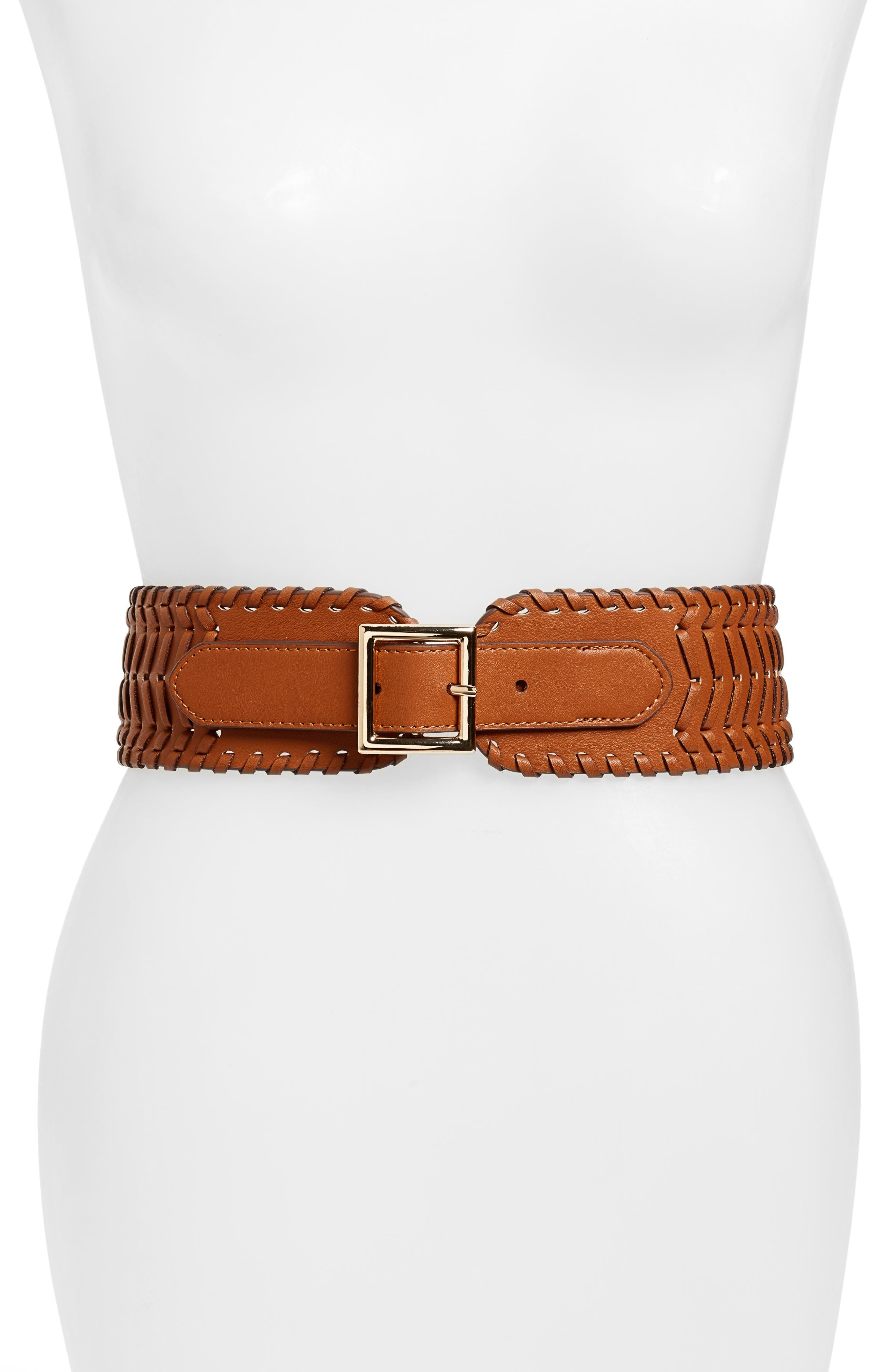 Treasure & Bond Whipstitch Stretch Belt