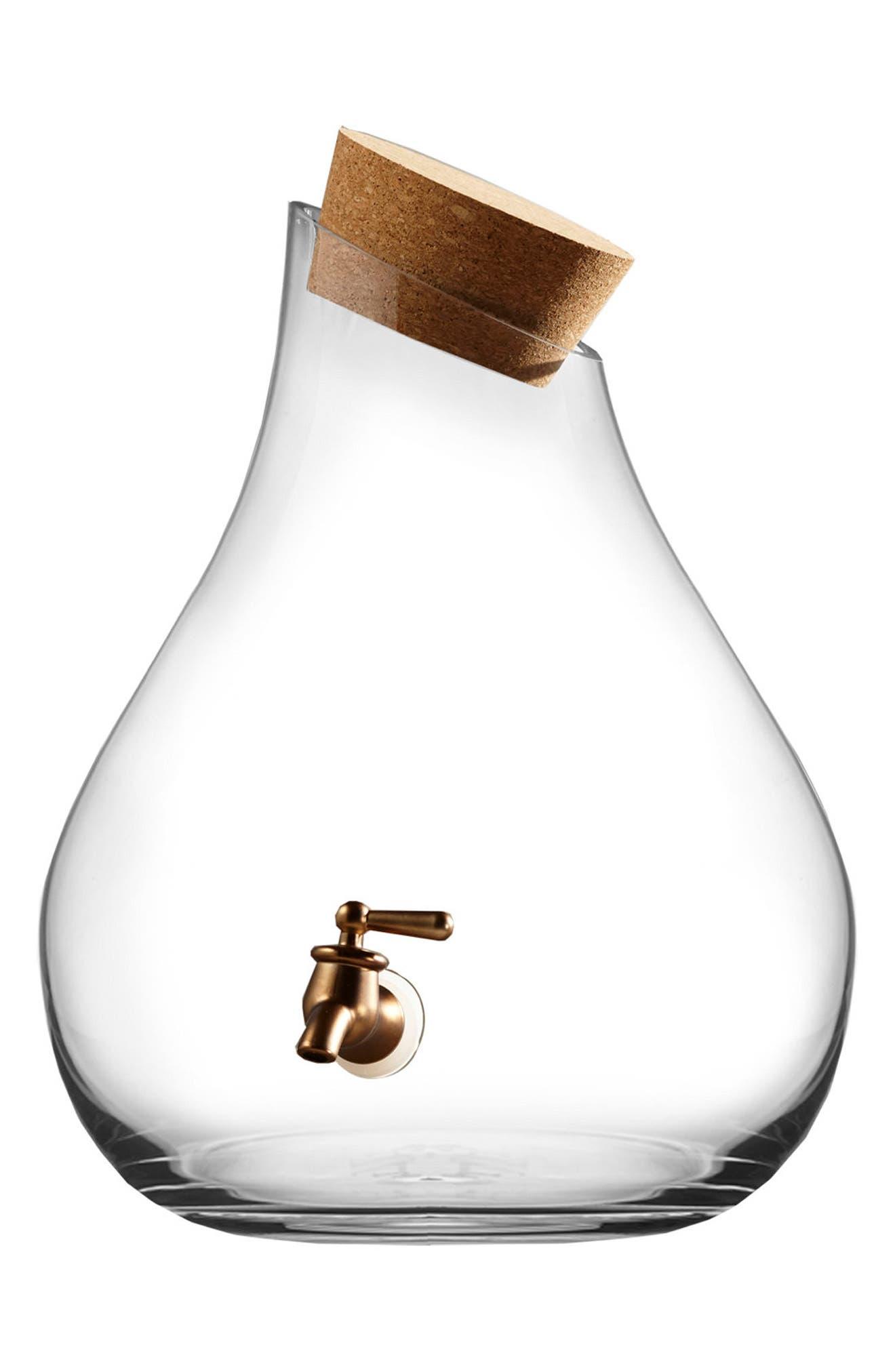 2.5-Gallon Beverage Dispenser,                             Main thumbnail 1, color,                             Clear