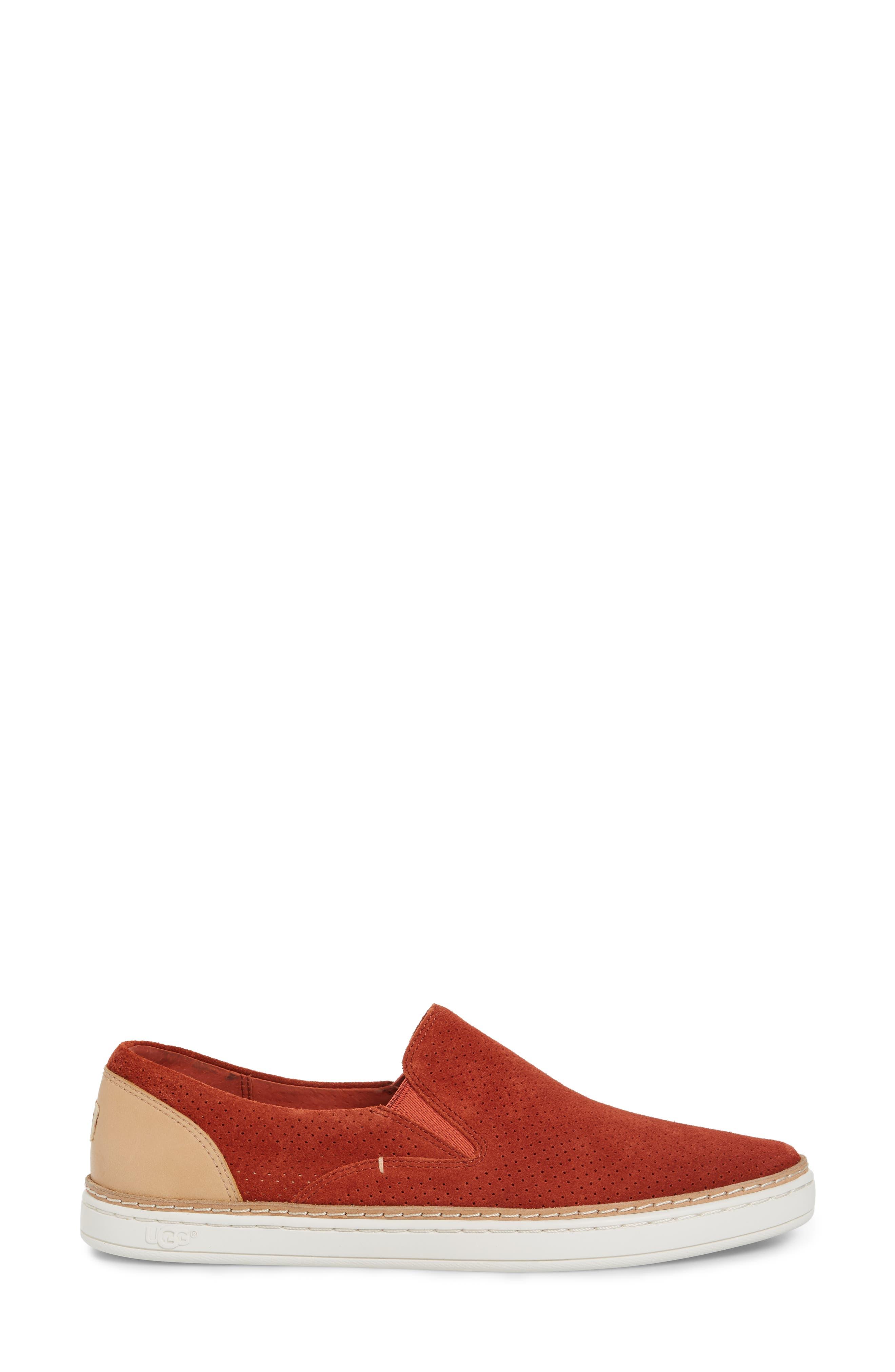Adley Slip-On Sneaker,                             Alternate thumbnail 3, color,                             Paprika Suede