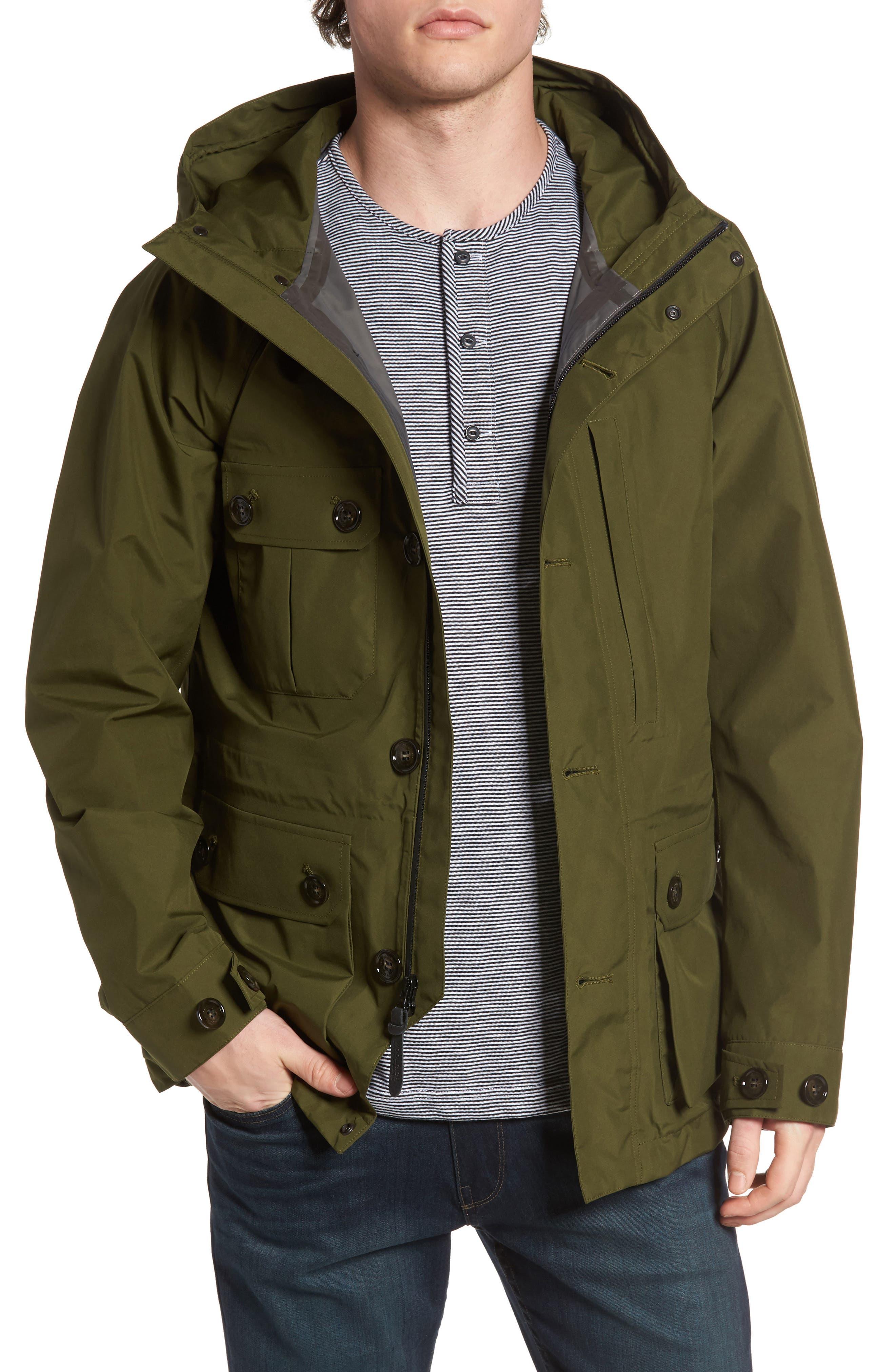 John Rich & Bros. Waterproof Gore-Tex<sup>®</sup> Mountain Jacket,                         Main,                         color, Dark Olive