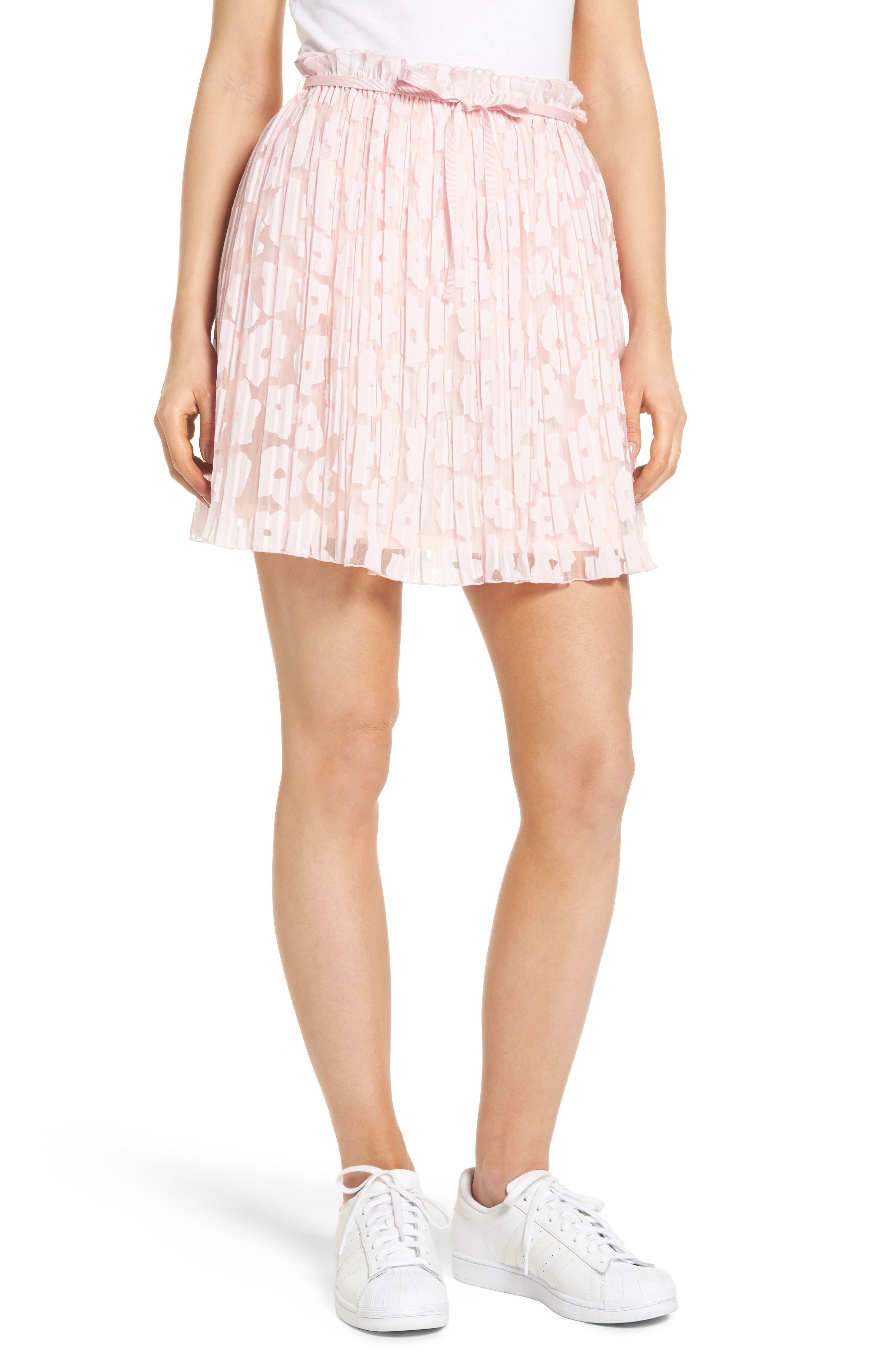 Karlie Burnout Skirt,                             Main thumbnail 1, color,                             Rose Pale