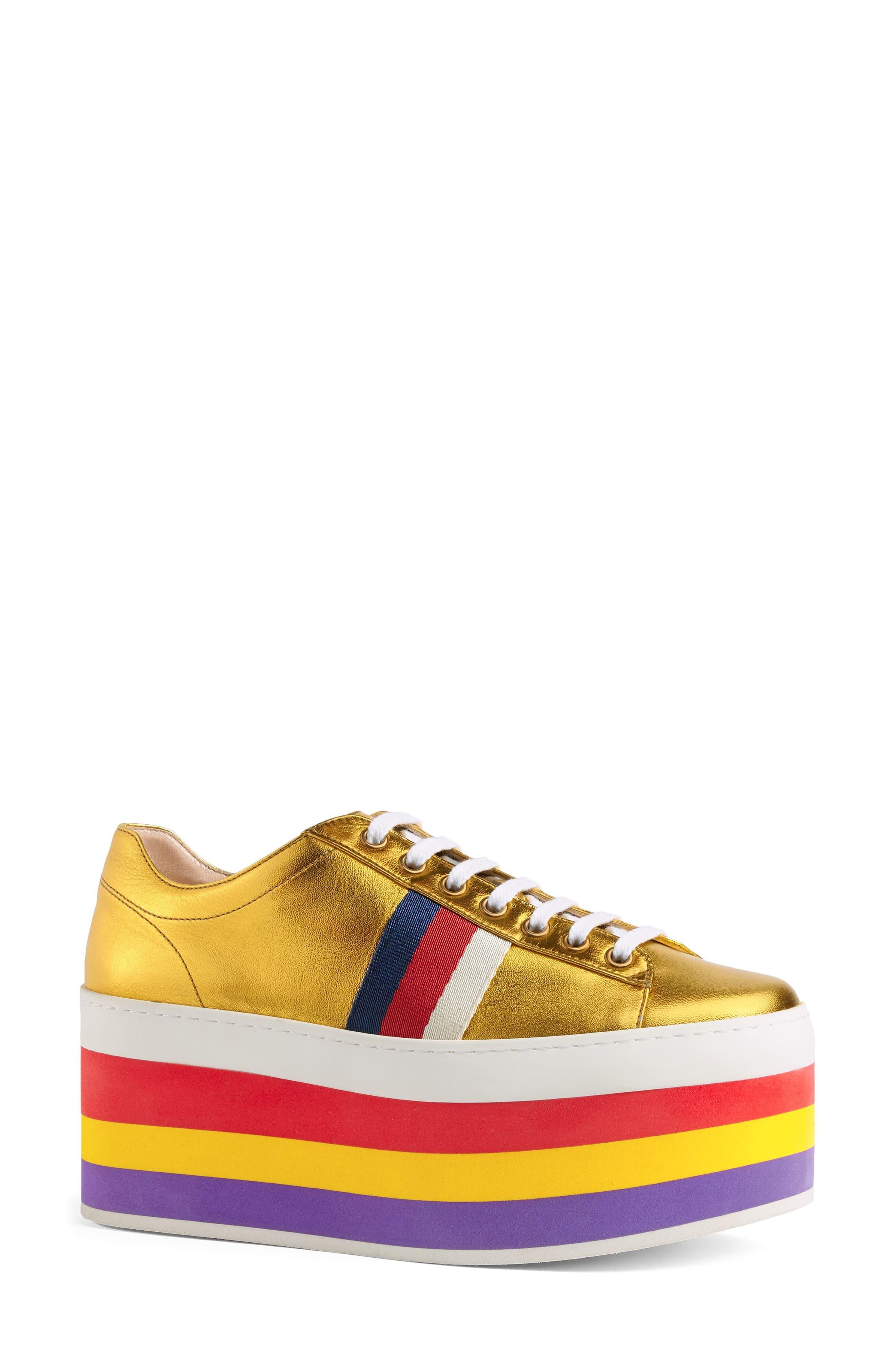 Alternate Image 2  - Gucci Peggy Flatform Sneaker (Women)