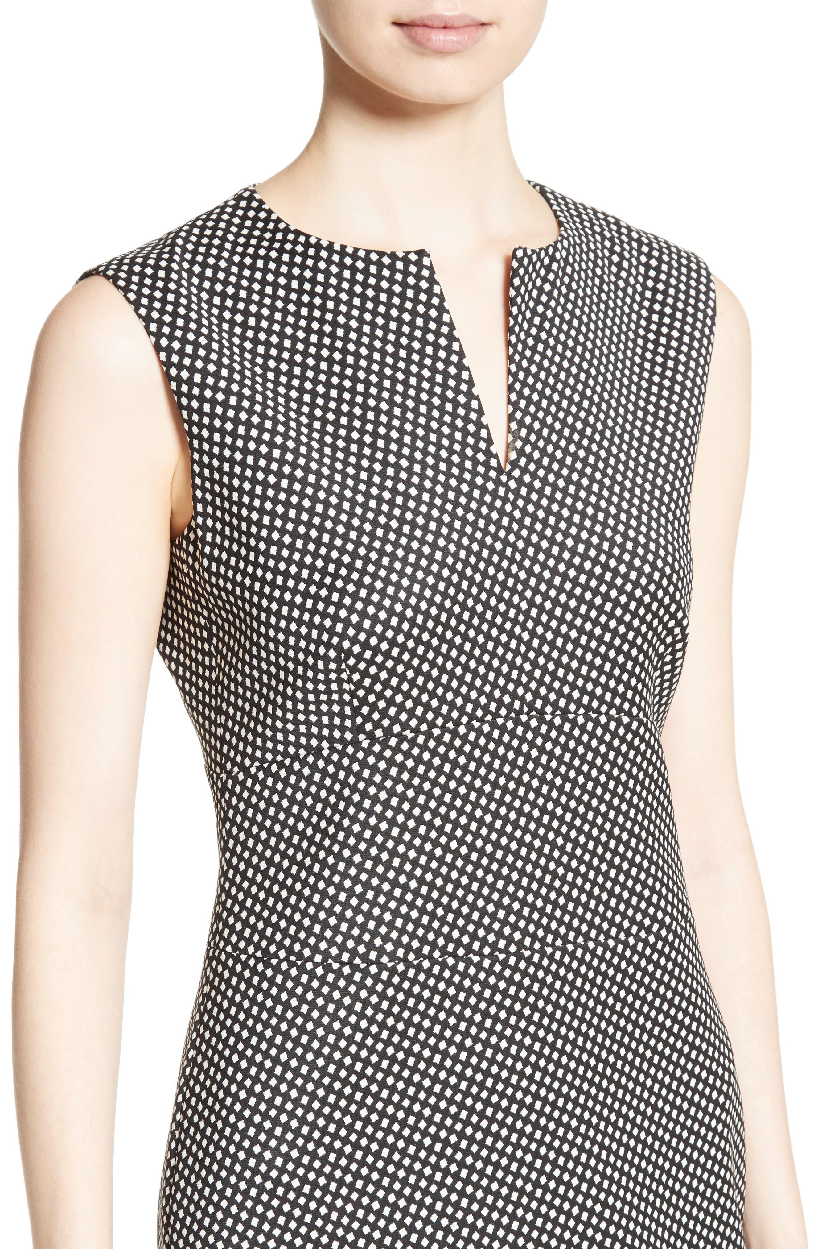 Cerea Sheath Dress,                             Alternate thumbnail 6, color,                             Black