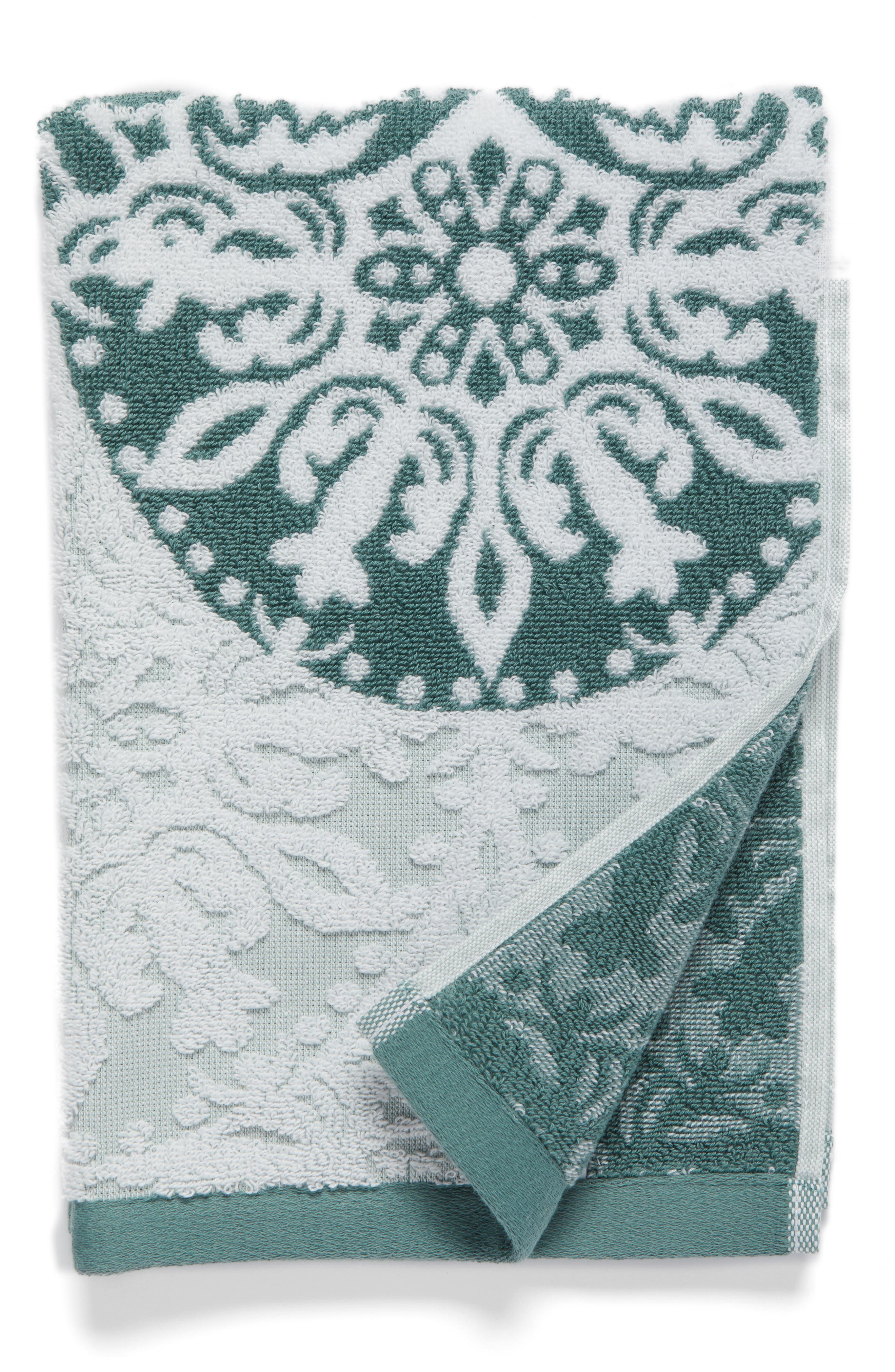 Nordstrom at Home Fan Ombré Jacquard Hand Towel (2 for $32)