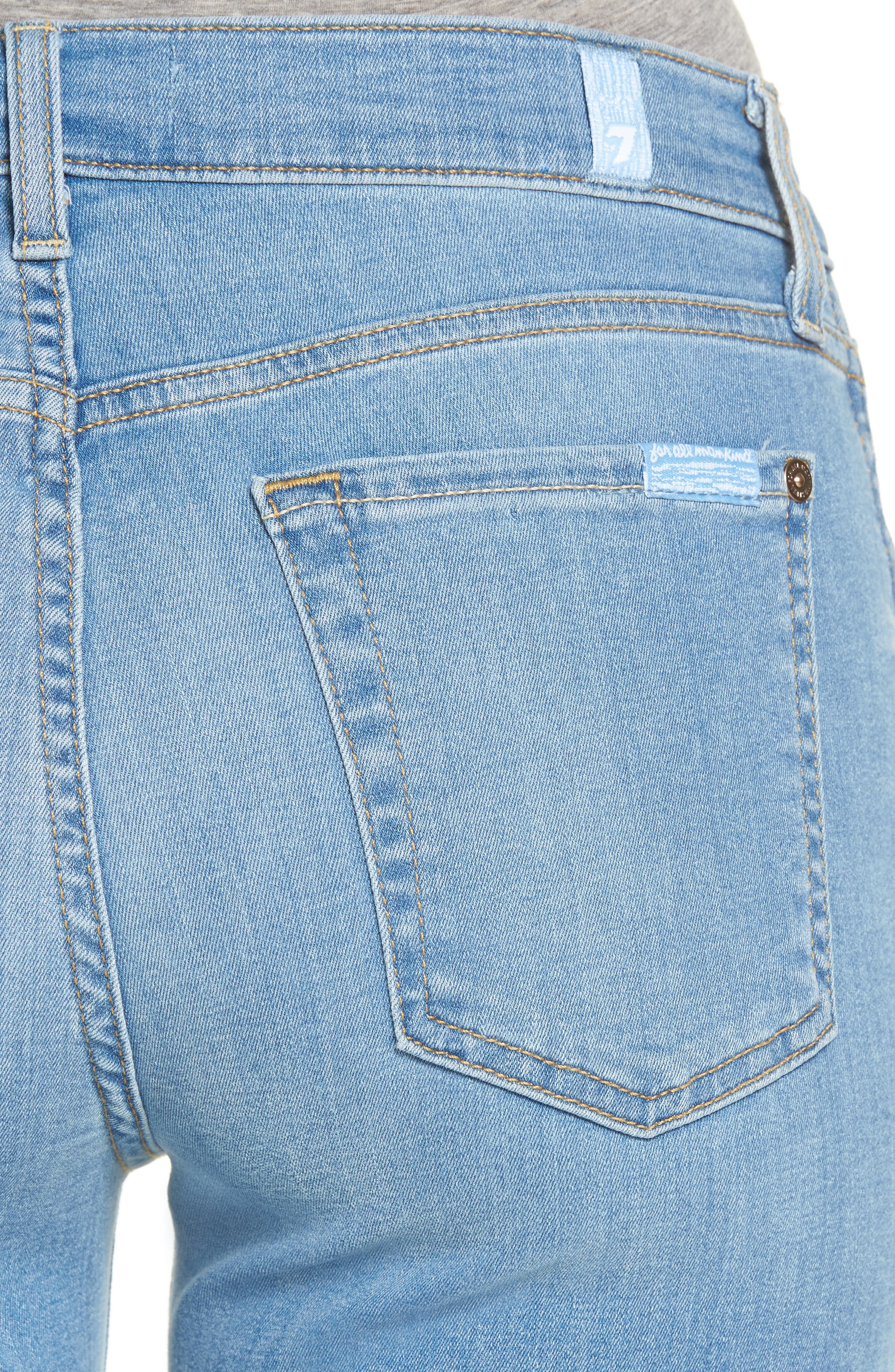 Alternate Image 4  - 7 For All Mankind® b(air) Released Hem Crop Bootcut Jeans (Bair Sunfaded 2)