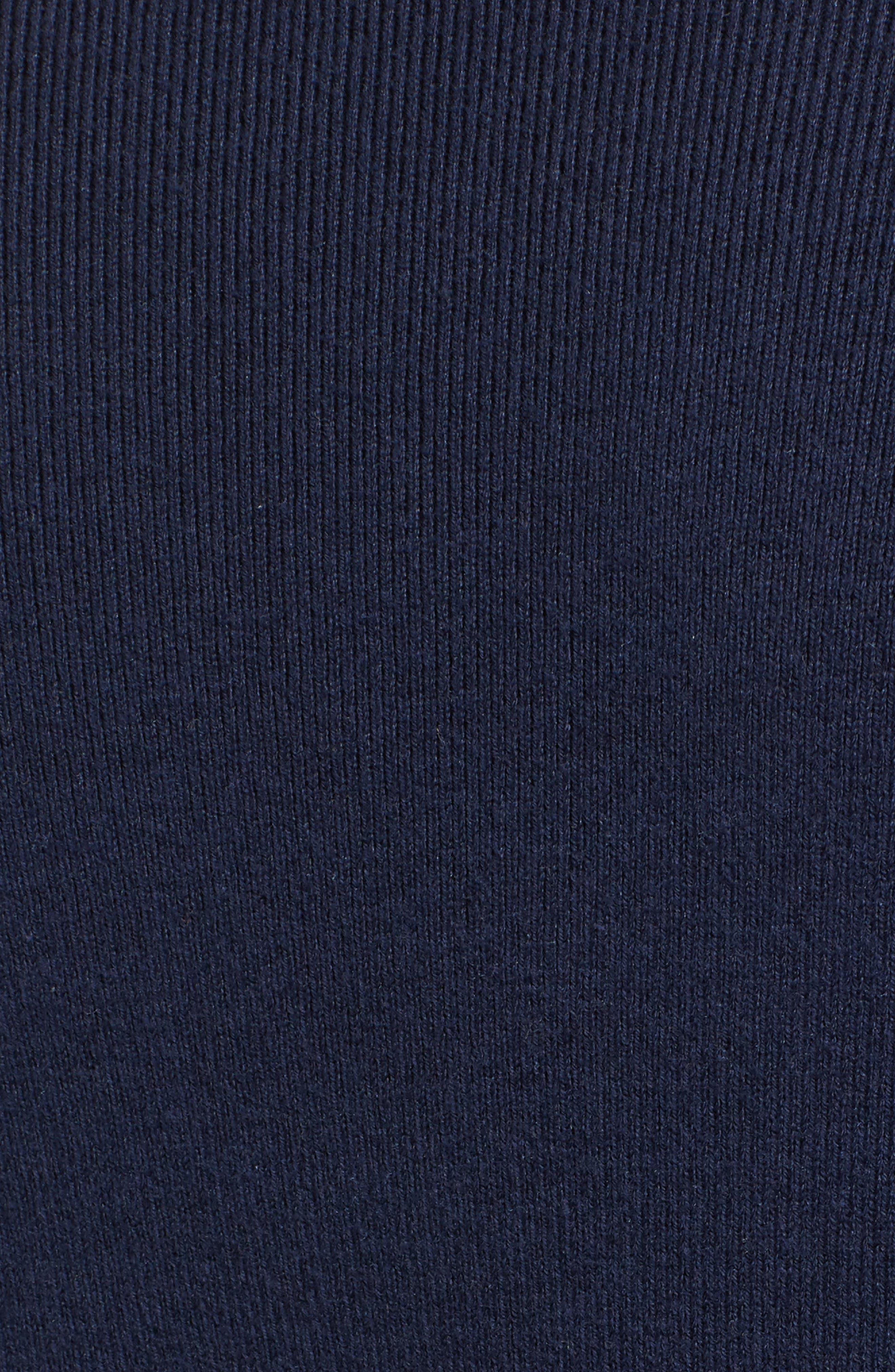 Flare Sleeve Sweater,                             Alternate thumbnail 6, color,                             Navy Peacoat