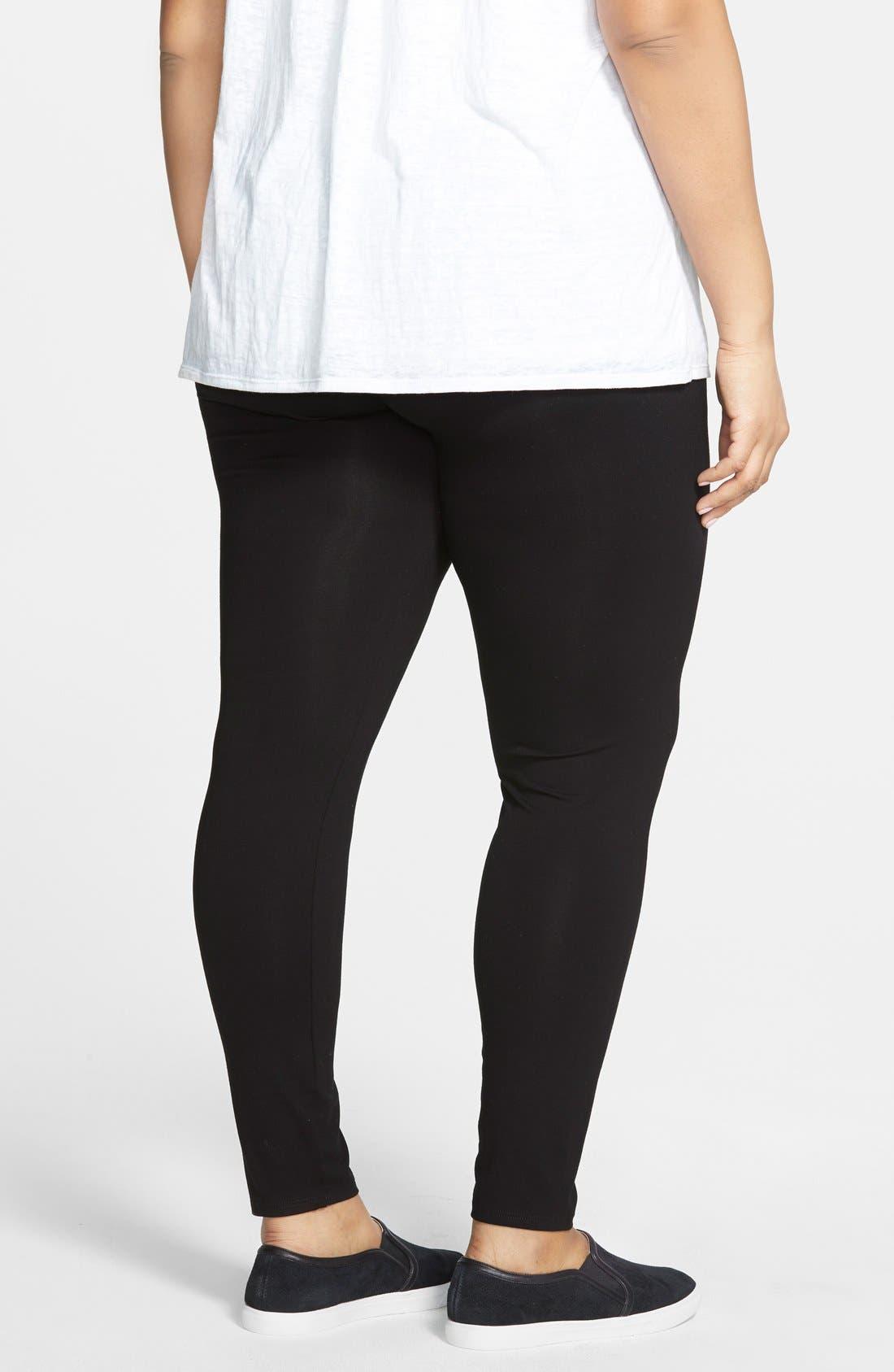 Alternate Image 2  - Eileen Fisher Ankle Leggings (Plus Size)