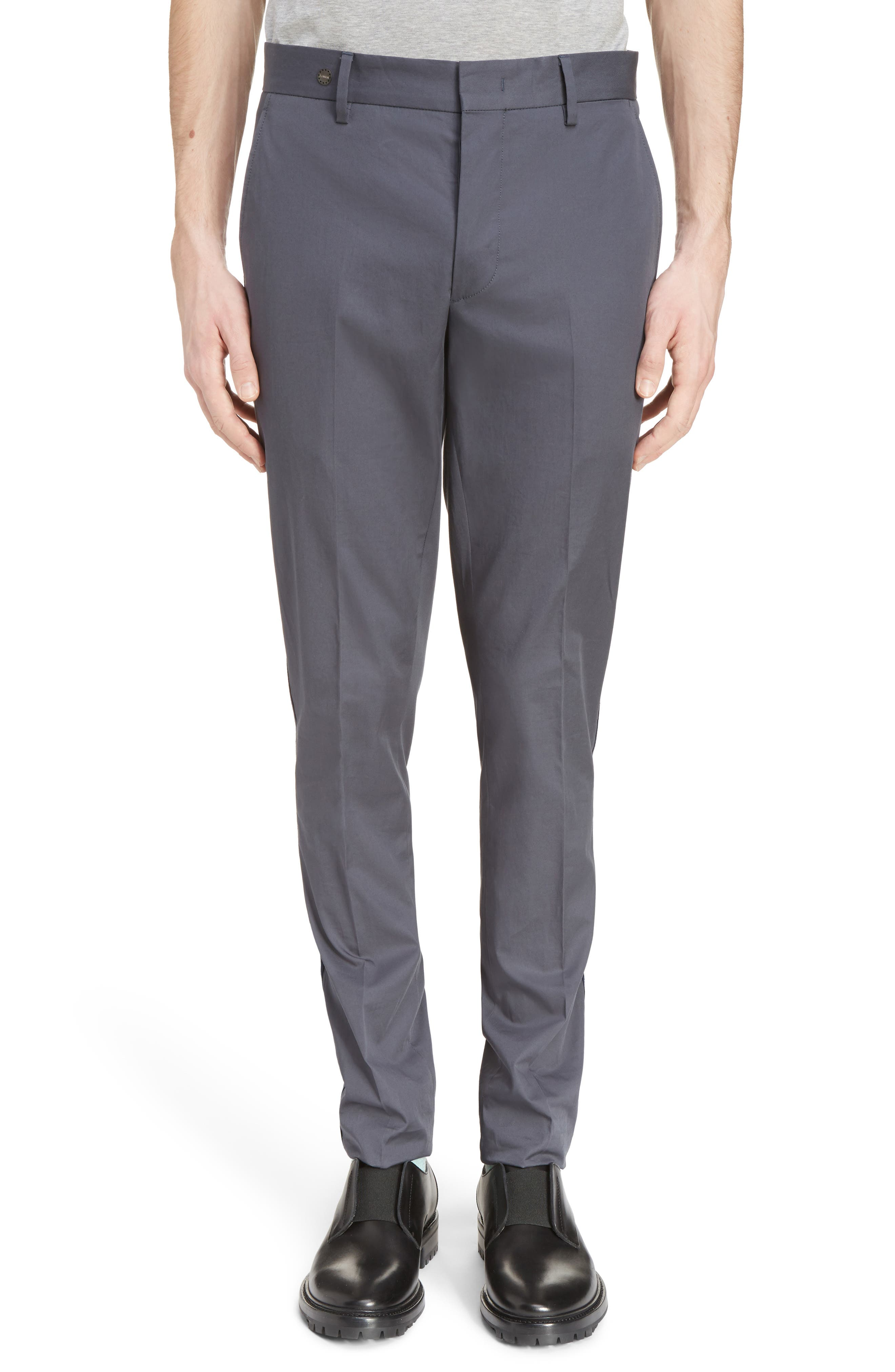 Lanvin Ribbon Trim Chinos