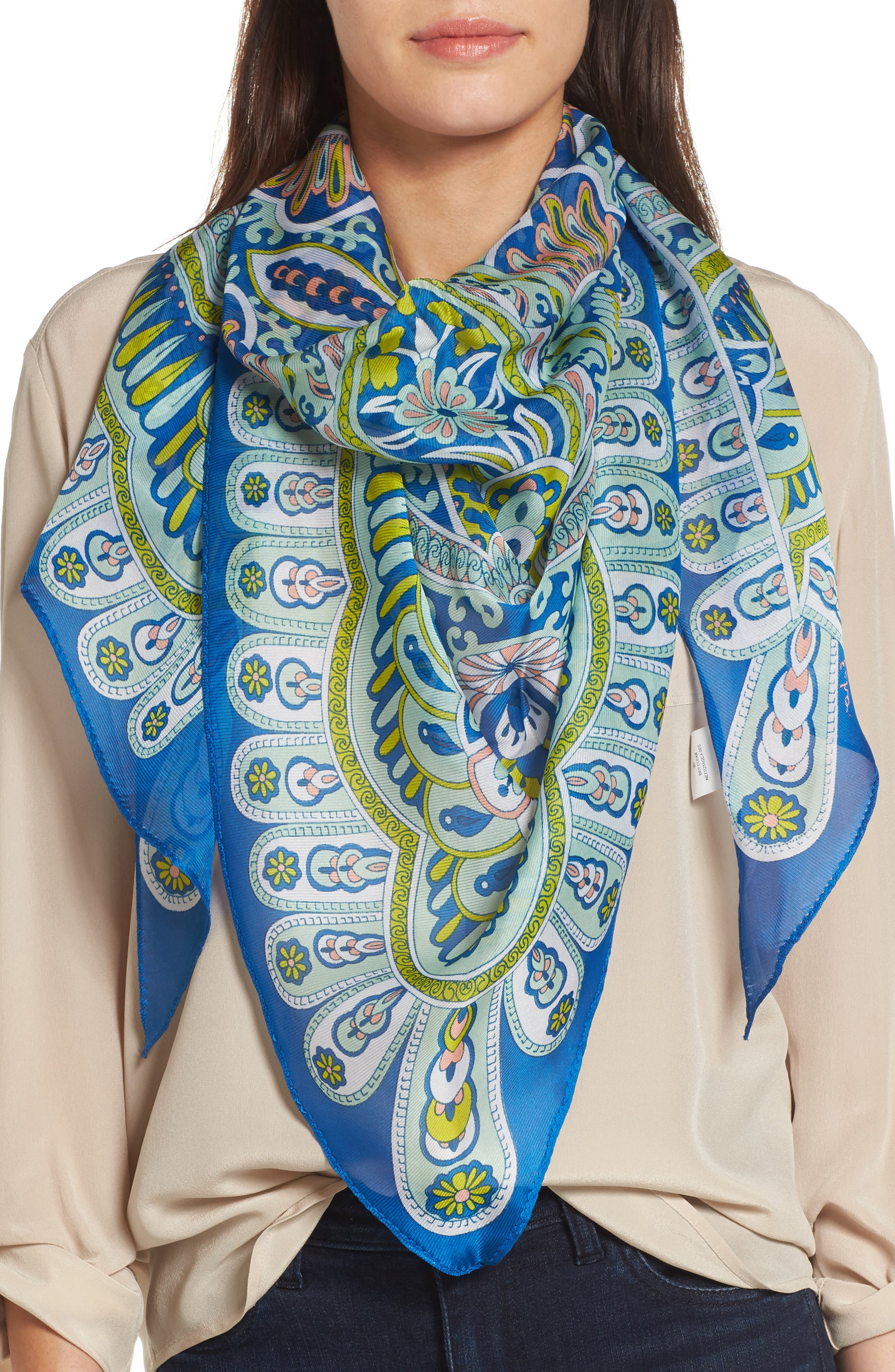 Main Image - Echo Baracoa Silk Triangle Scarf