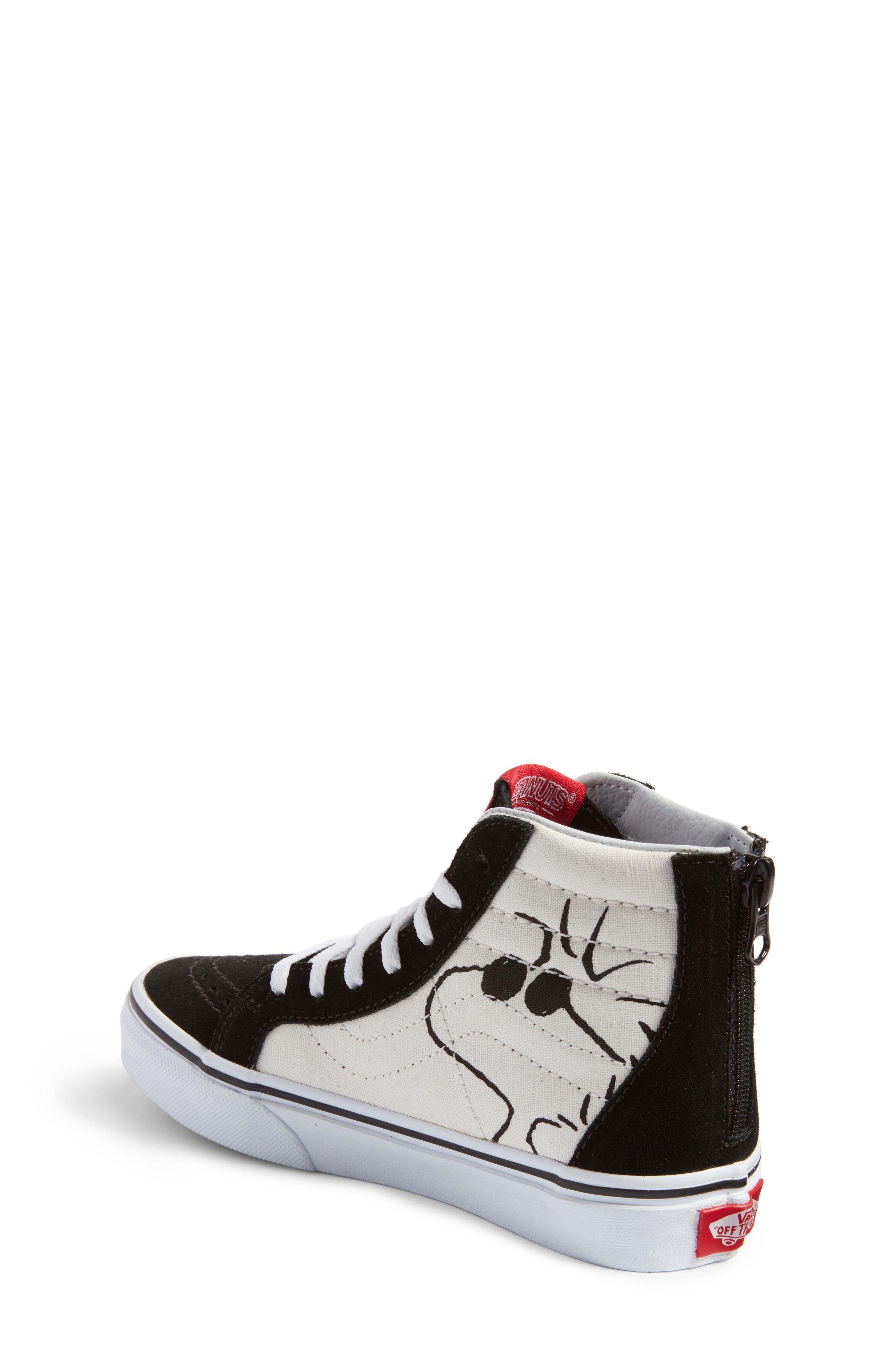 Alternate Image 2  - Vans x Peanuts SK8-Hi Sneaker (Toddler, Little Kid & Big Kid)