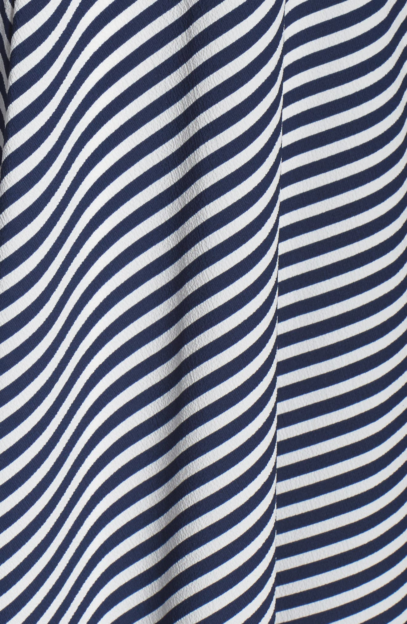 Stripe Midi Sundress,                             Alternate thumbnail 5, color,                             Navy/ Cream