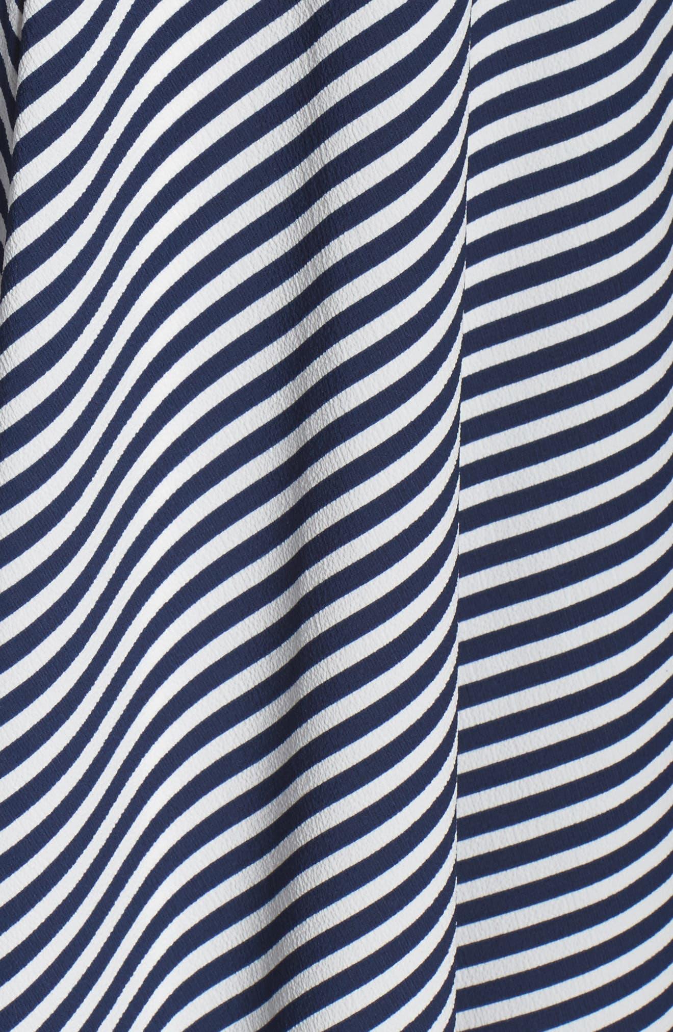 Alternate Image 5  - Taylor Dresses Stripe Midi Sundress (Plus Size)