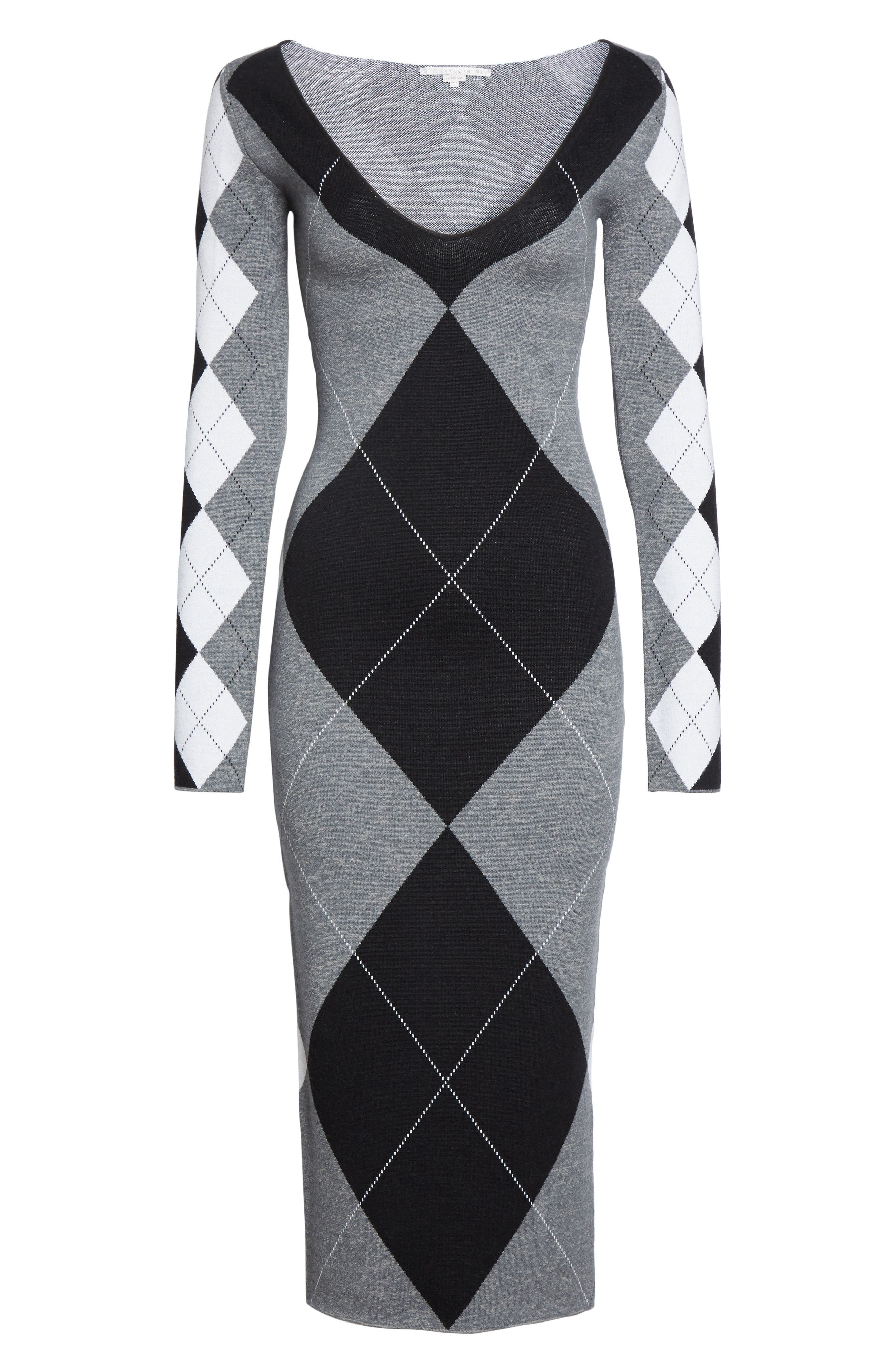 Alternate Image 4  - Stella McCartney Argyle Sweater Dress