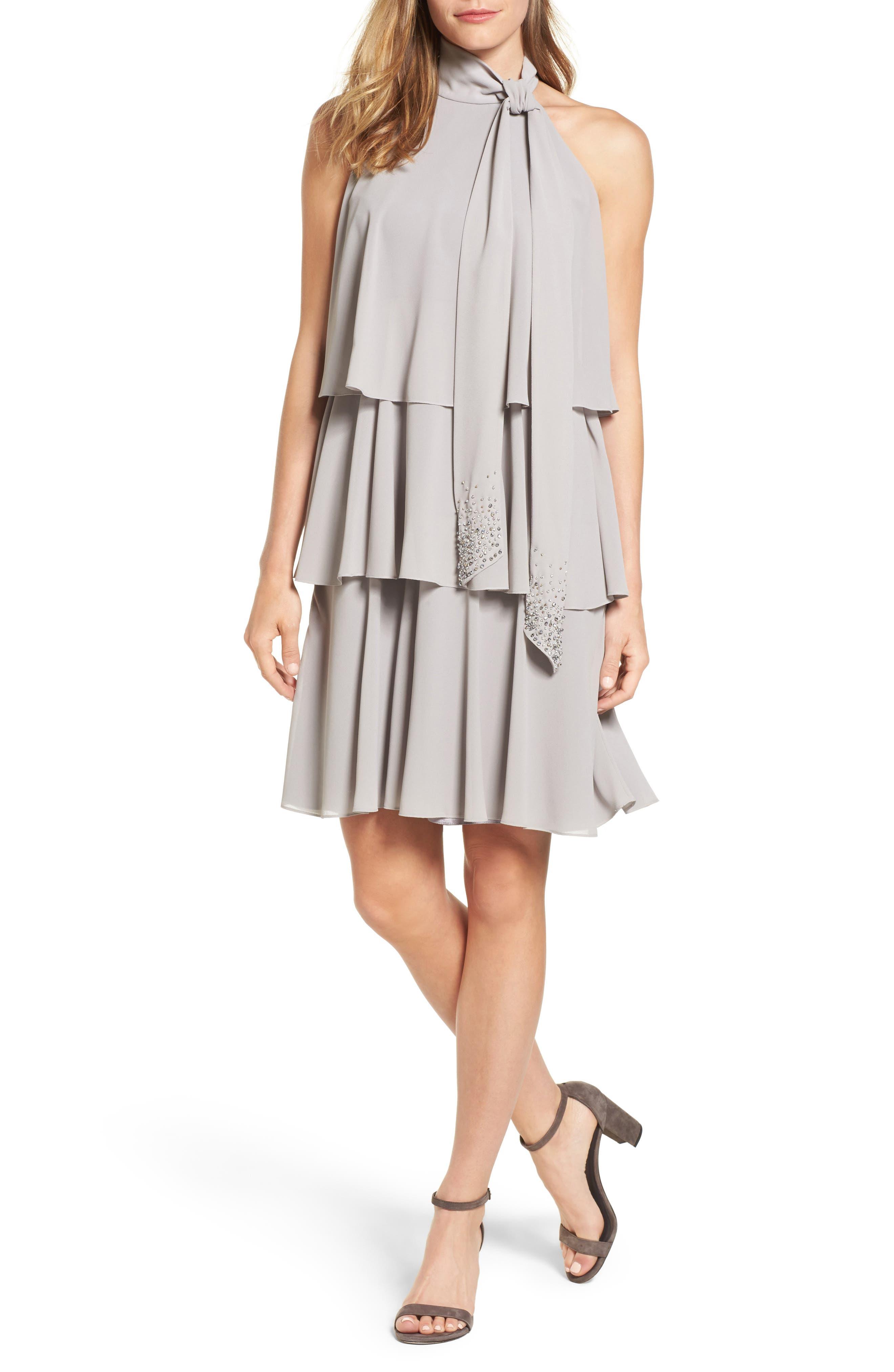 Vince Camuto Embellished Swing Dress