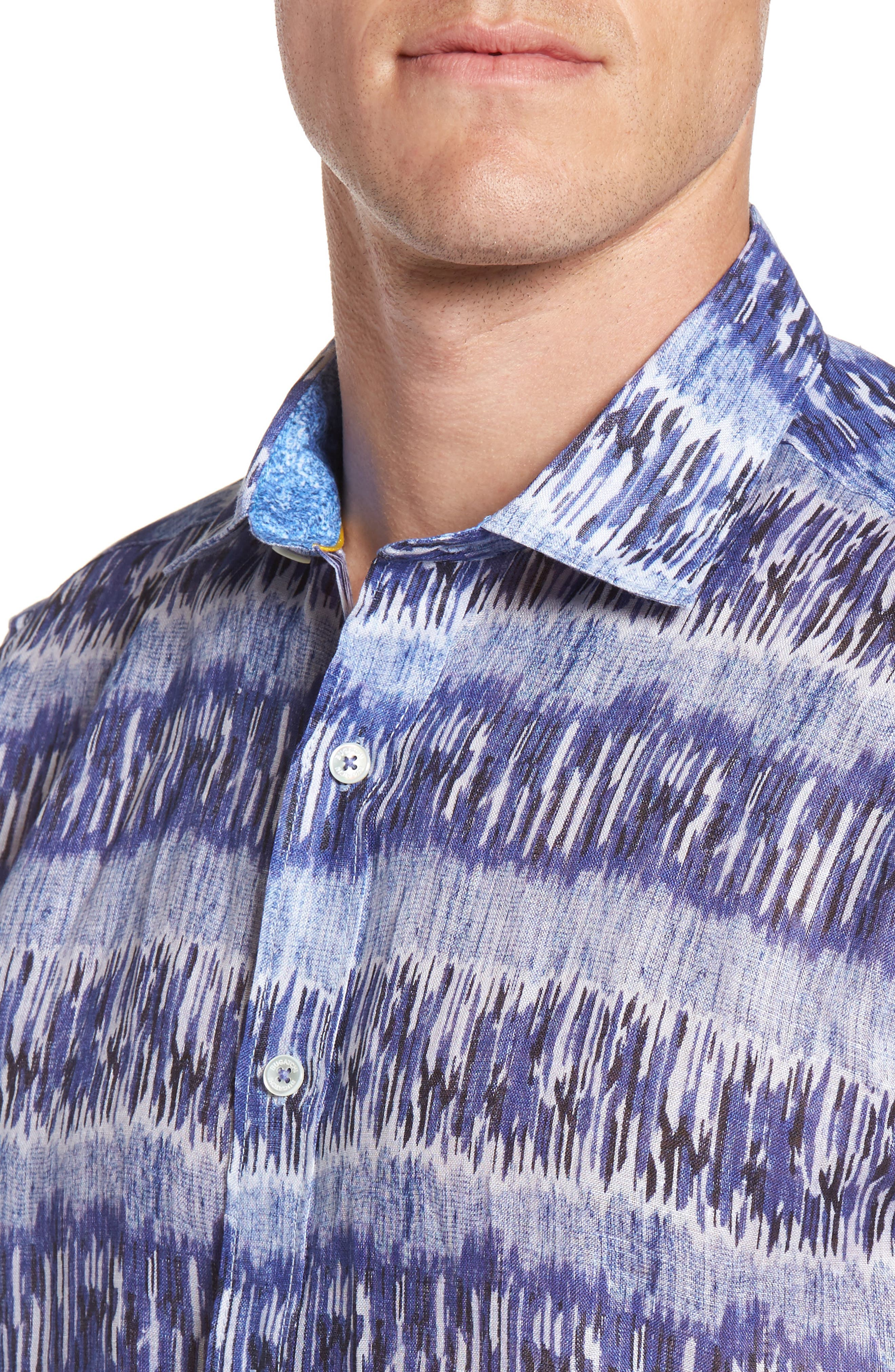 Classic Fit Check Sport Shirt,                             Alternate thumbnail 4, color,                             Classic Blue