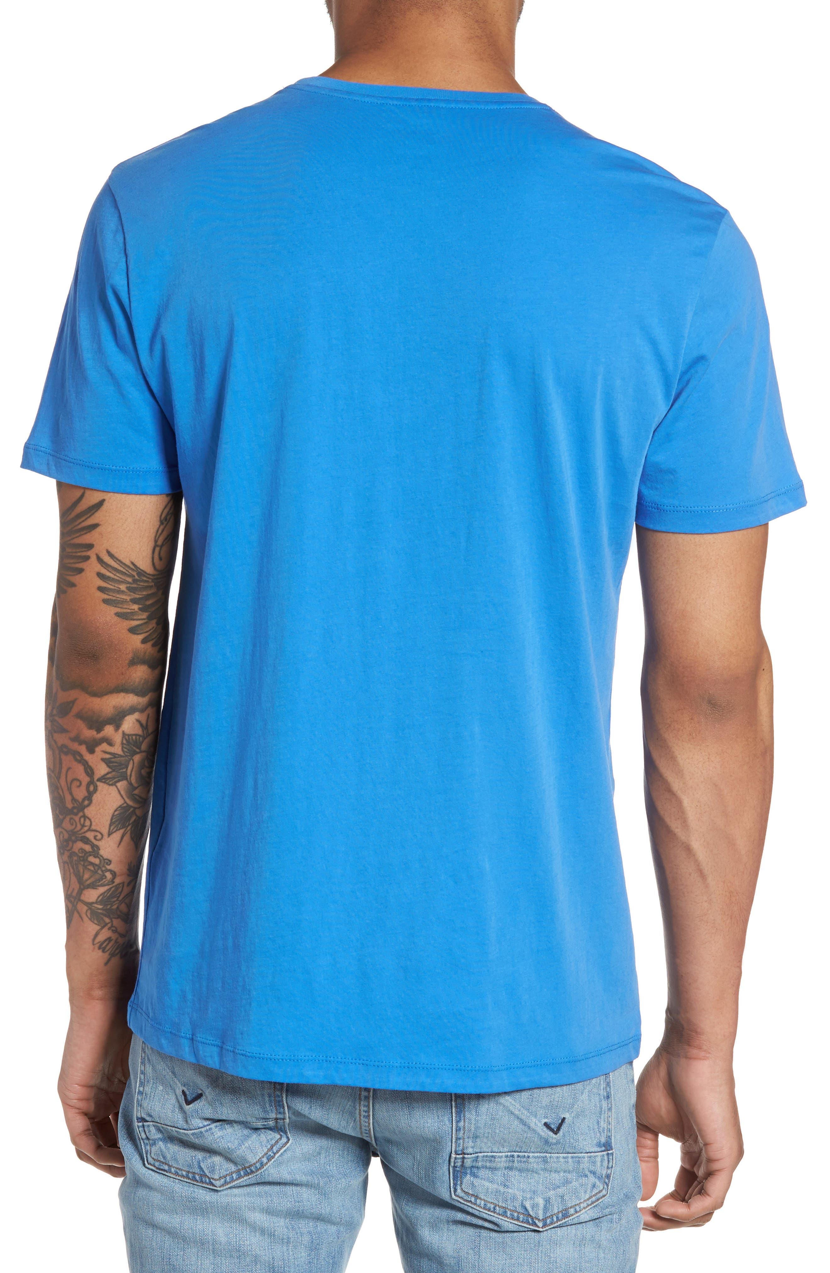 Slim Crewneck T-Shirt,                             Alternate thumbnail 2, color,                             Sail Blue