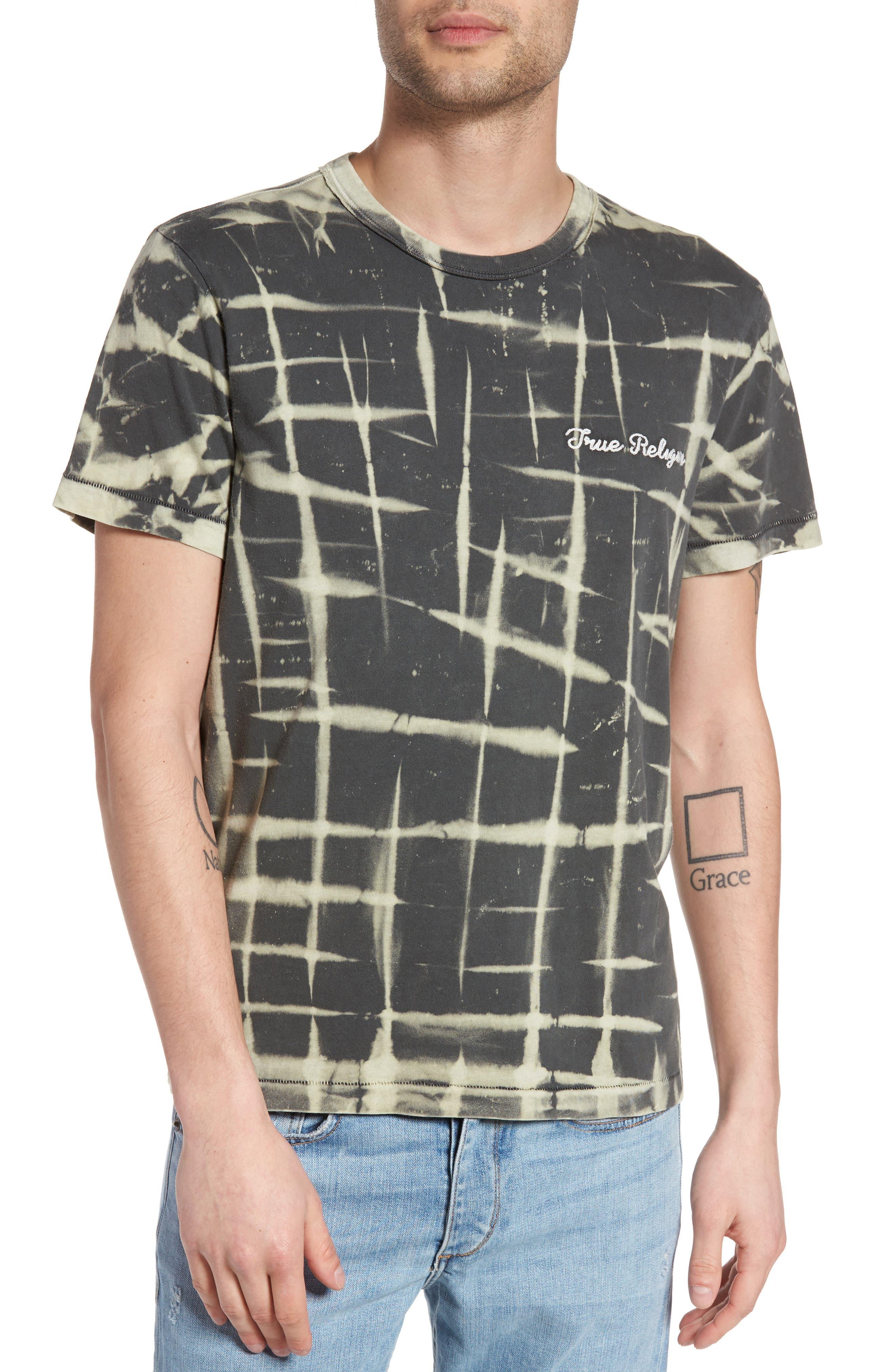 Tie Dye T-Shirt,                         Main,                         color, Charcoal