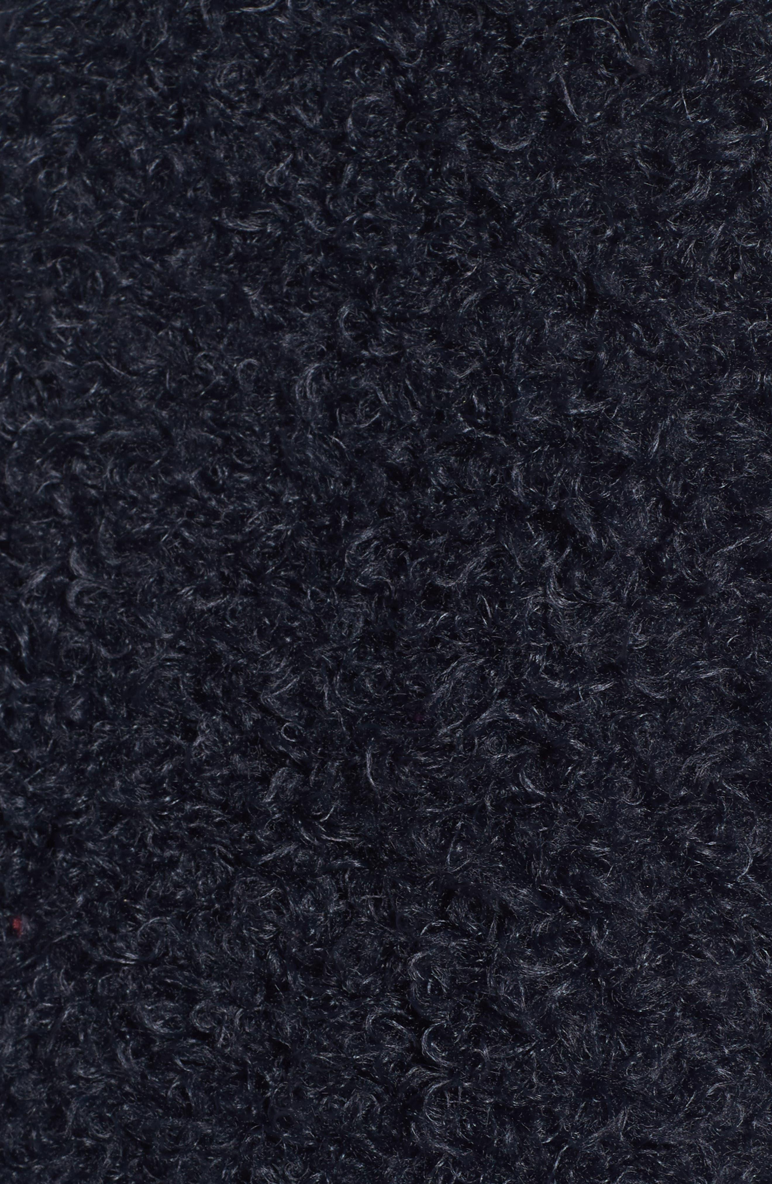 Reversible Faux Fur Coat,                             Alternate thumbnail 5, color,                             Navy