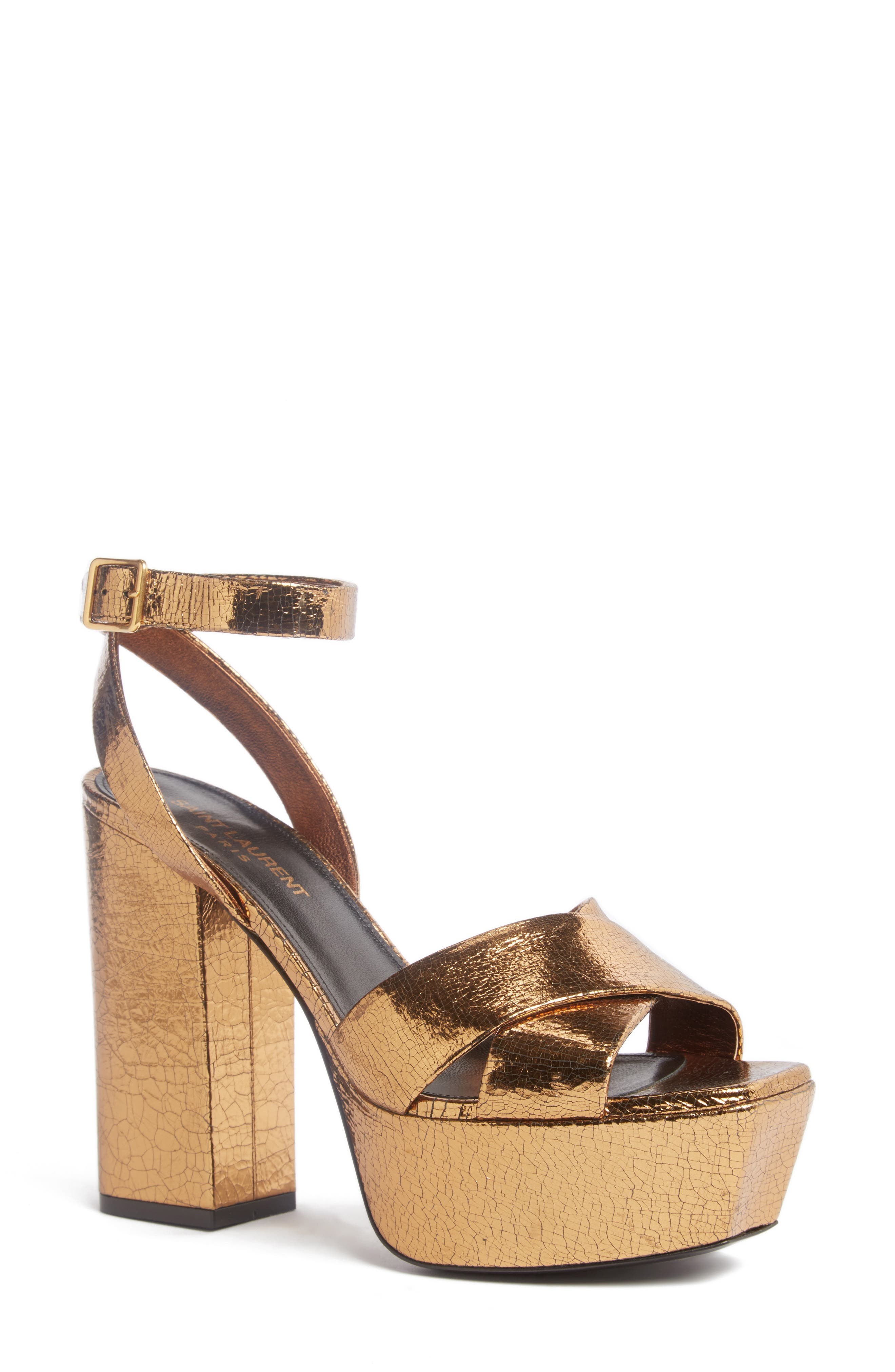 Main Image - Saint Laurent Farrah Platform Sandal (Women)