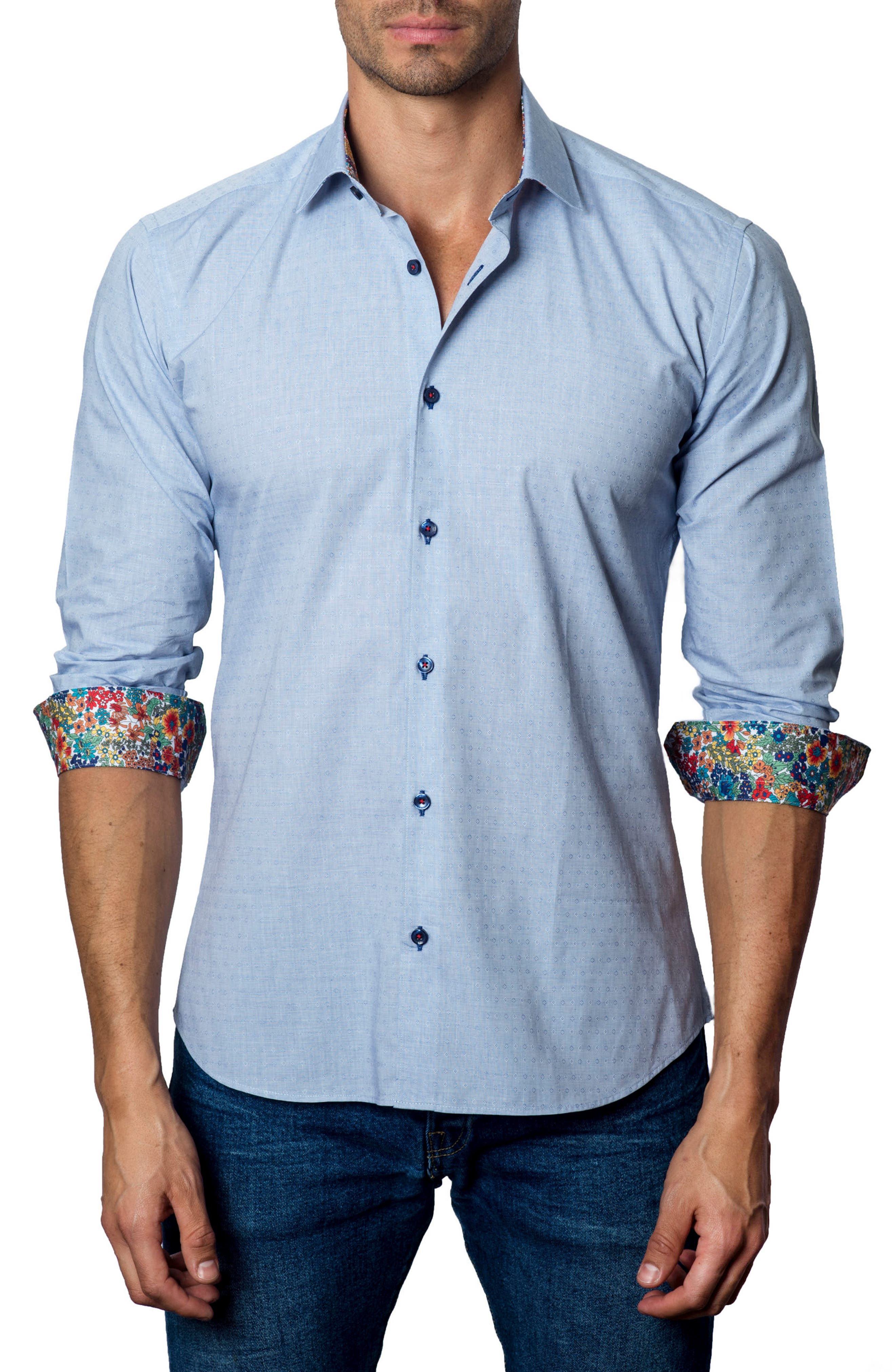 Main Image - Jared Lang Trim Fit Check Sport Shirt